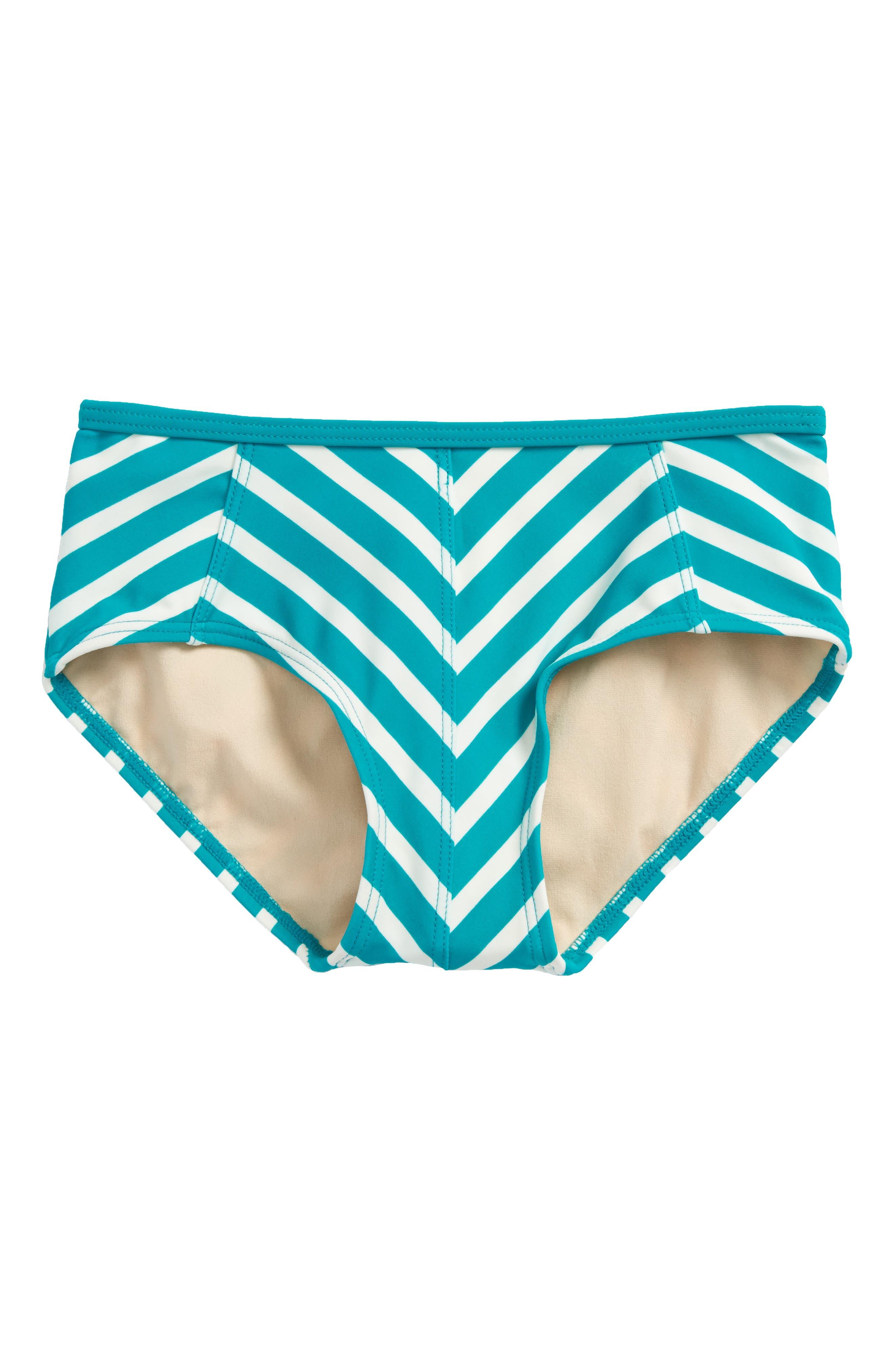 Stripe Bikini Bottoms,                             Main thumbnail 1, color,                             Mermaid Tonal Stripe