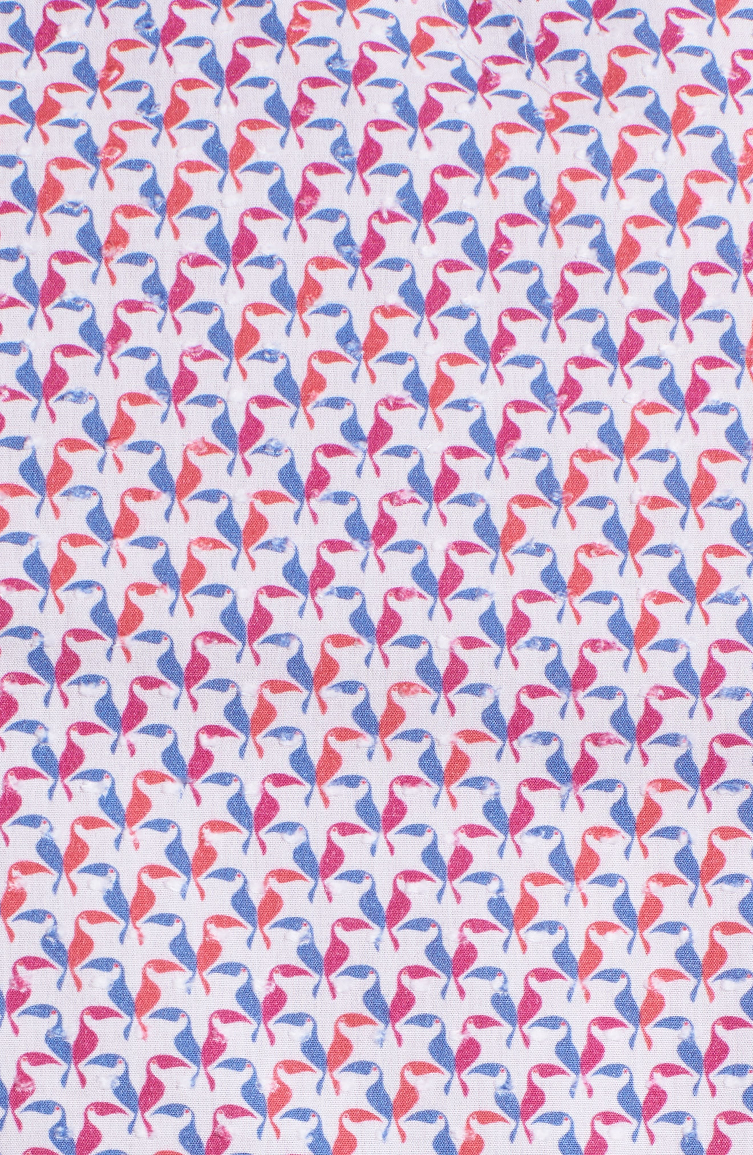 Contemporary Fit Toucan Print Sport Shirt,                             Alternate thumbnail 5, color,                             Berry