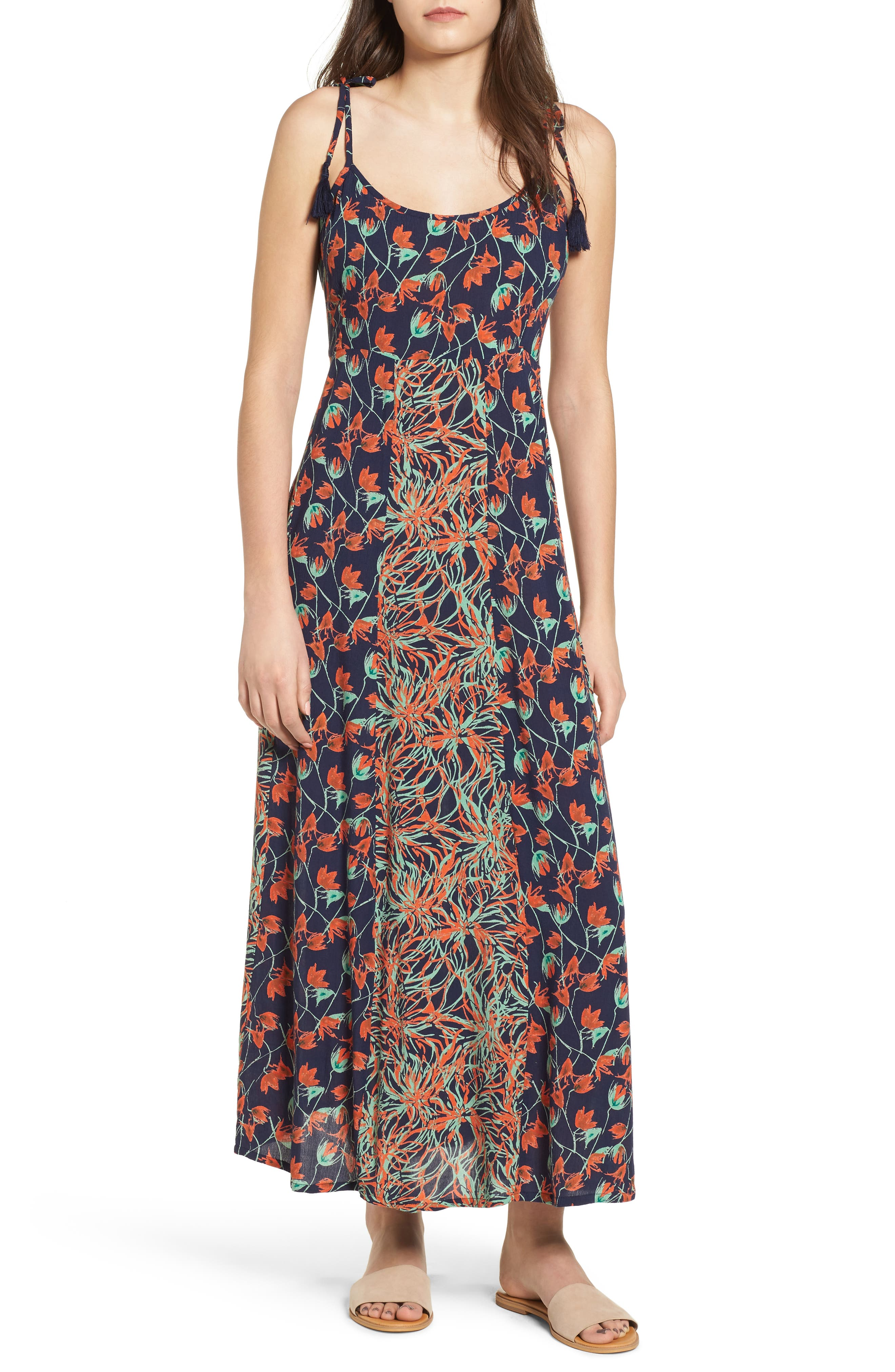 Raga Botanic Nights Tie Strap Maxi Dress