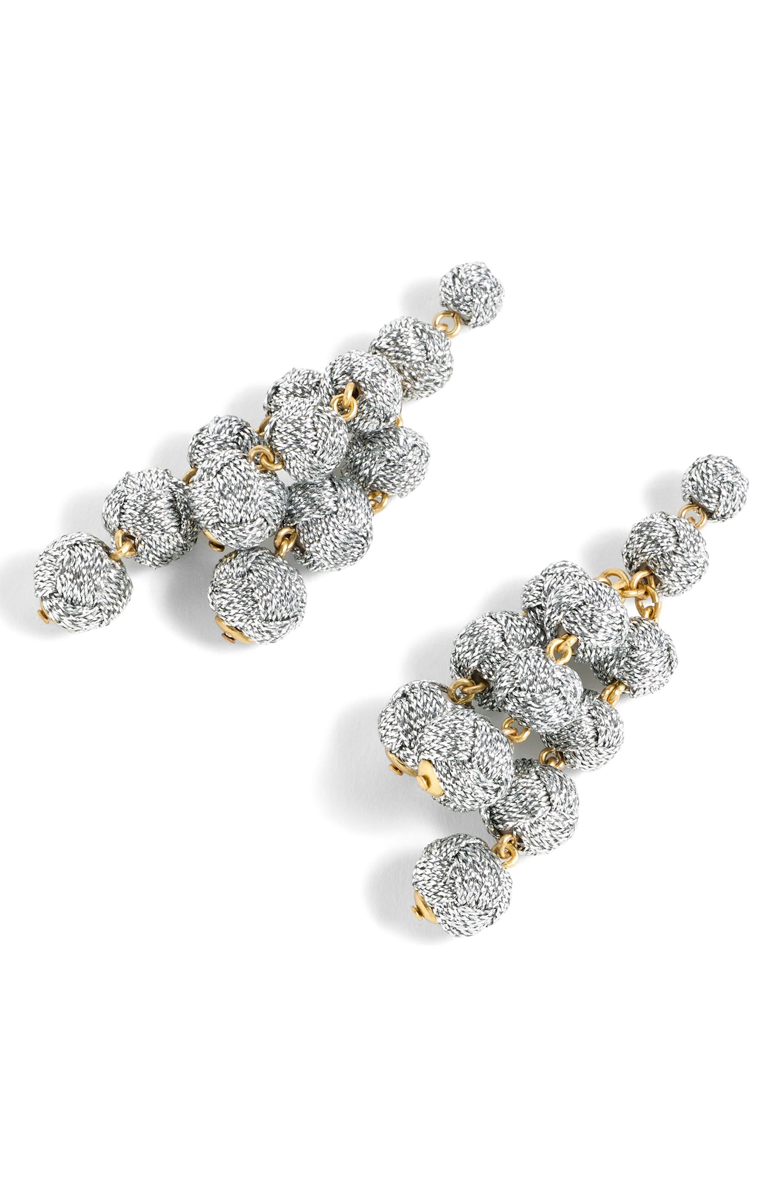 Main Image - J.Crew Love Knot Chandelier Earrings