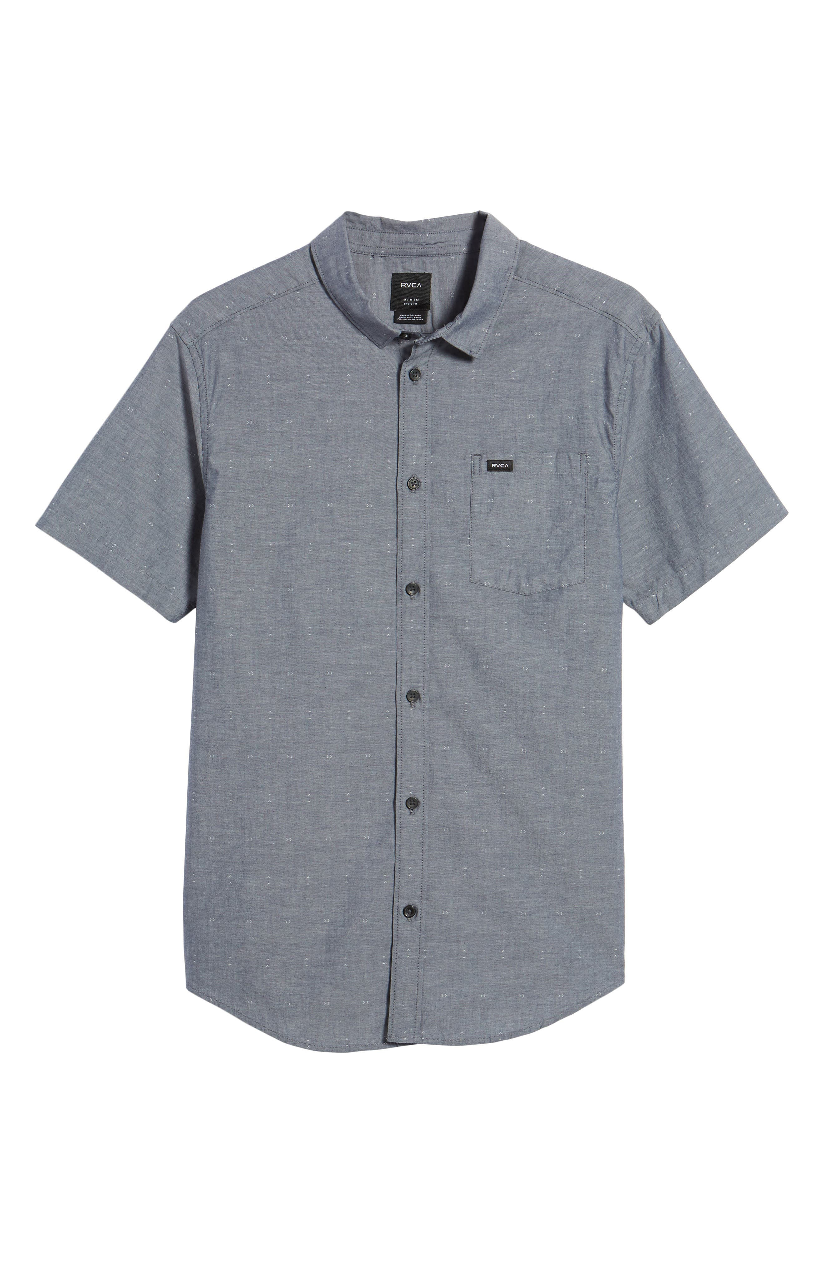 Arrows Woven Shirt,                             Alternate thumbnail 6, color,                             Classic Indigo