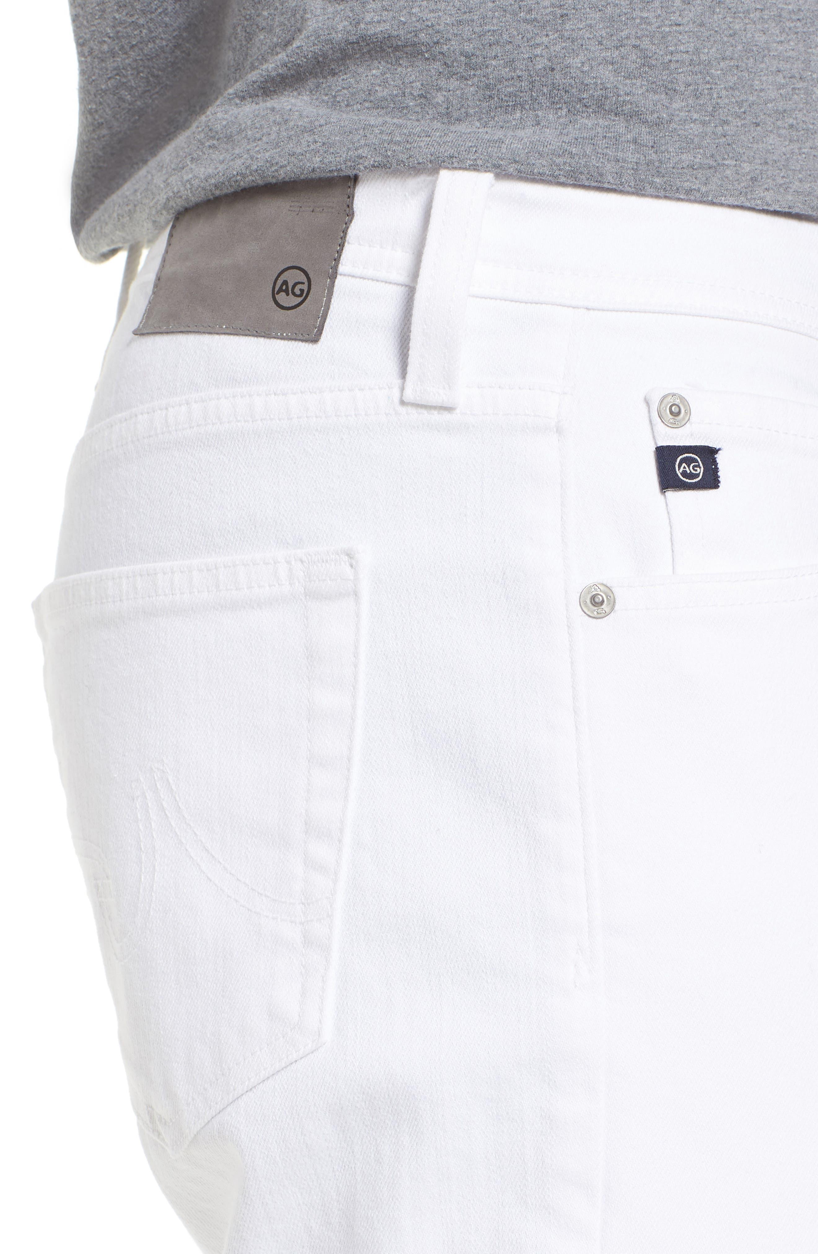 Everett Slim Straight Leg Jeans,                             Alternate thumbnail 4, color,                             White