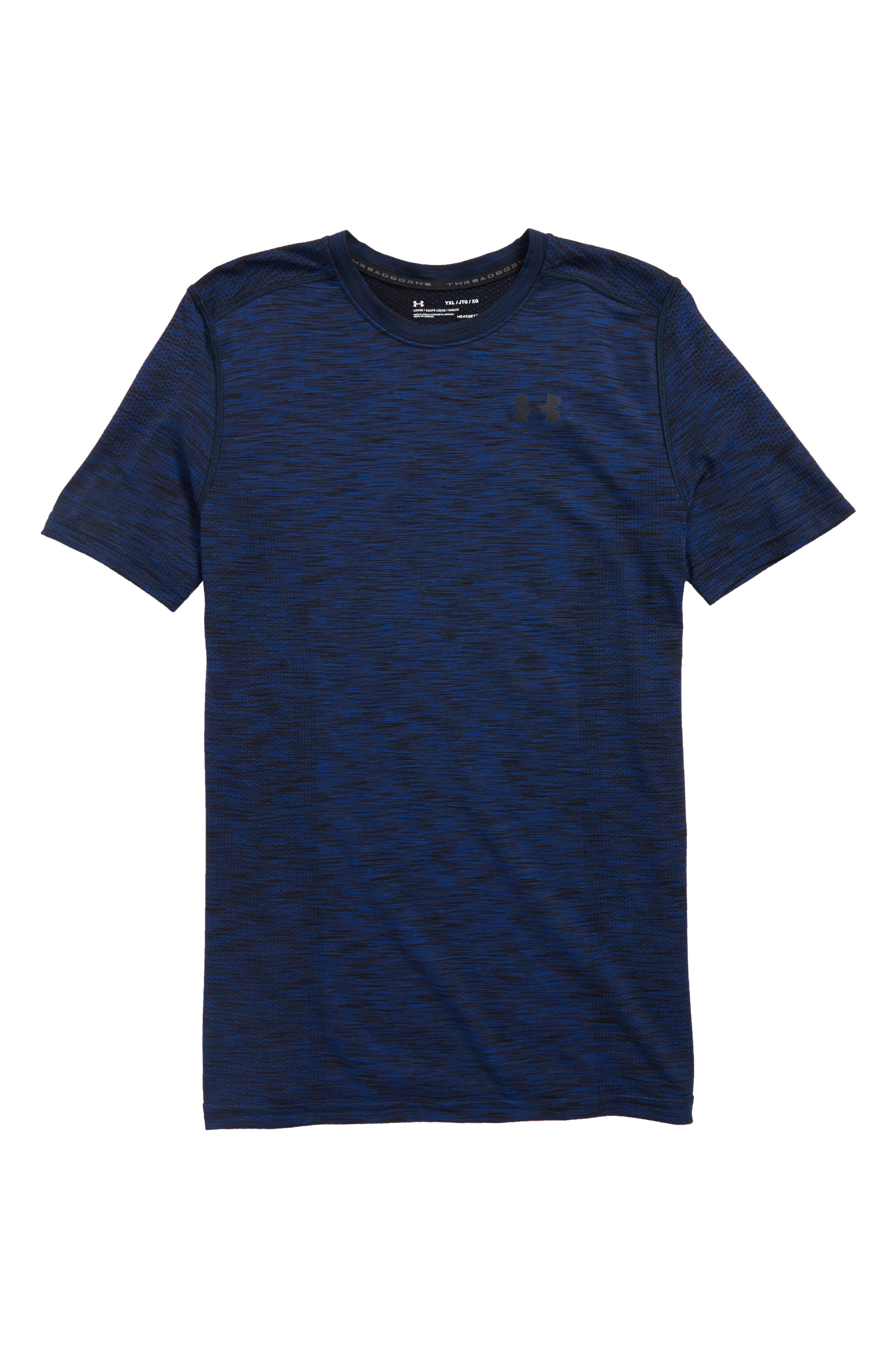 Alternate Image 1 Selected - Under Armour Threadborne HeatGear® Shirt (Little Boys & Big Boys)