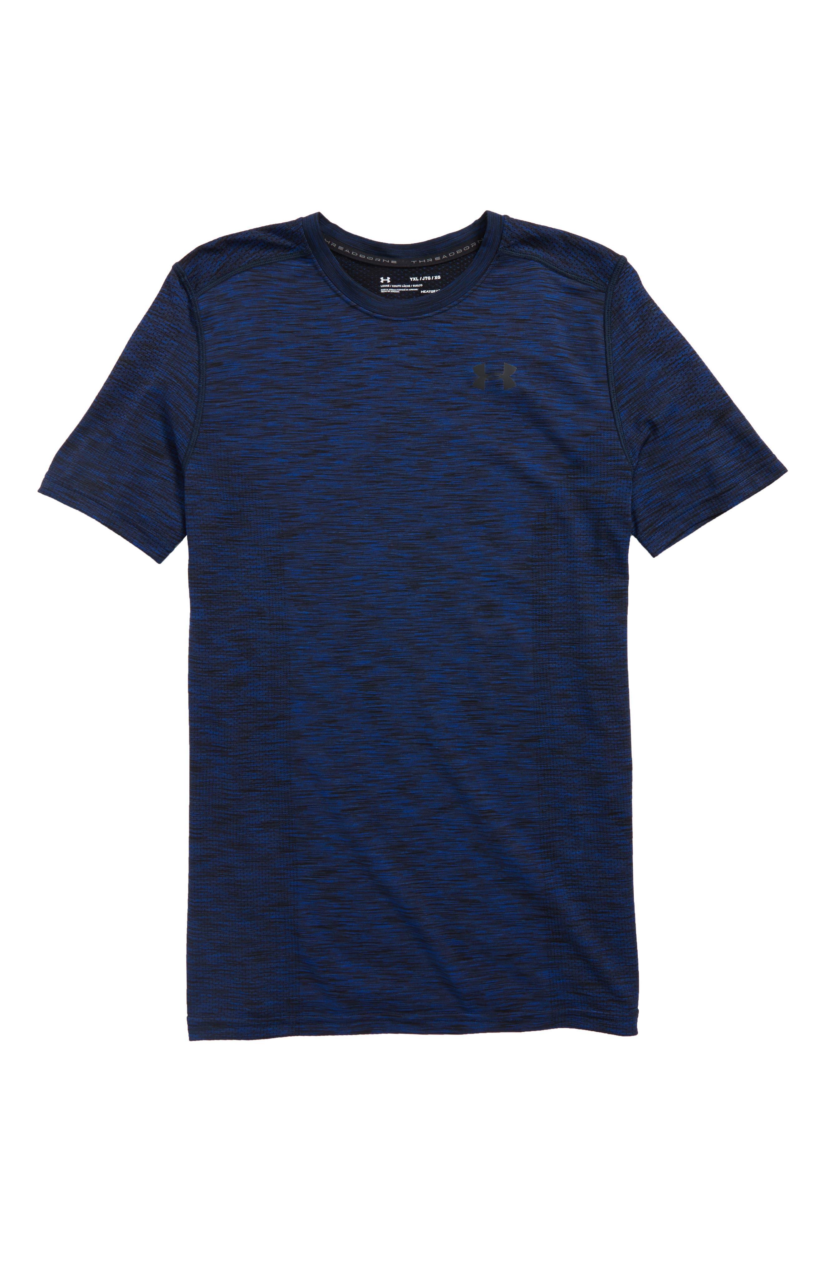 Main Image - Under Armour Threadborne HeatGear® Shirt (Little Boys & Big Boys)