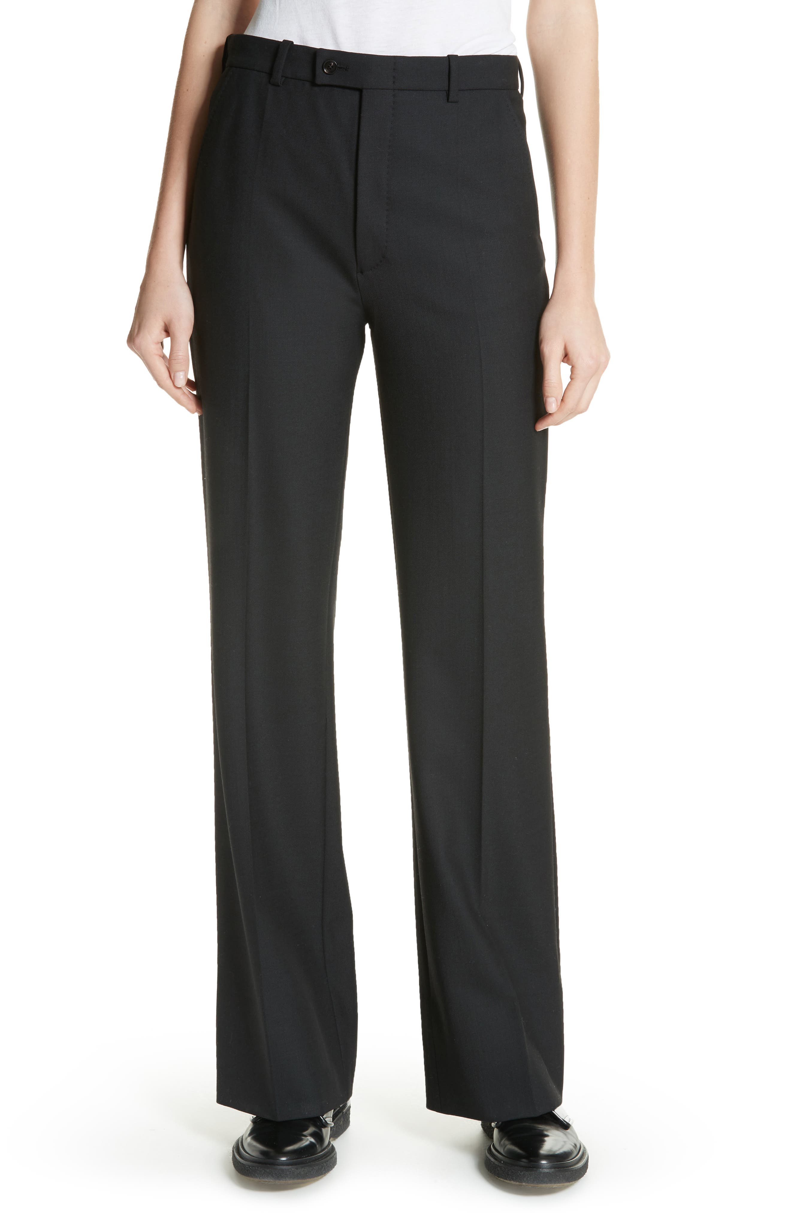 Tropez Wide Leg Trousers,                             Main thumbnail 1, color,                             Black