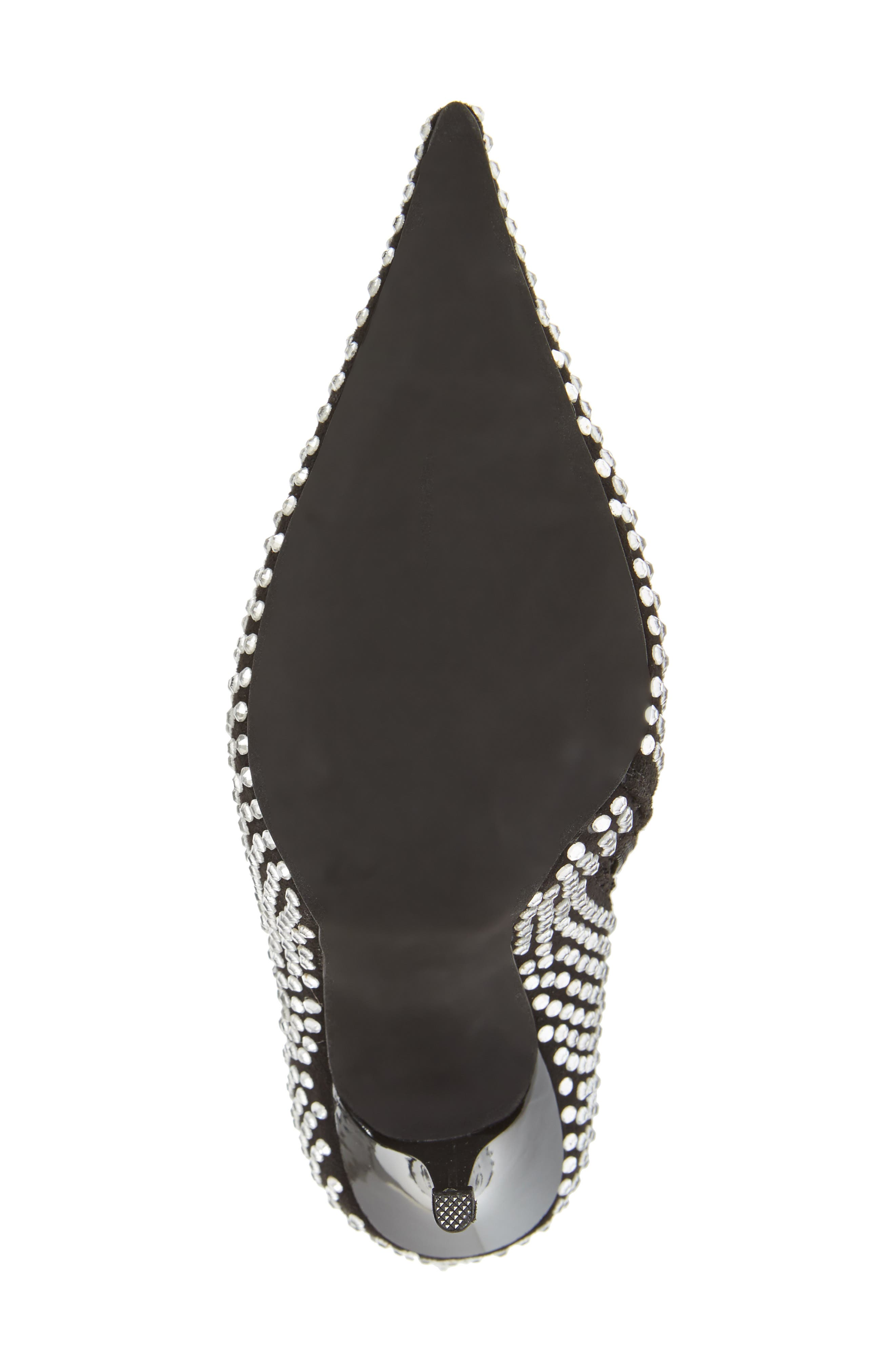 Cry4U Bootie,                             Alternate thumbnail 6, color,                             Black Suede Silver