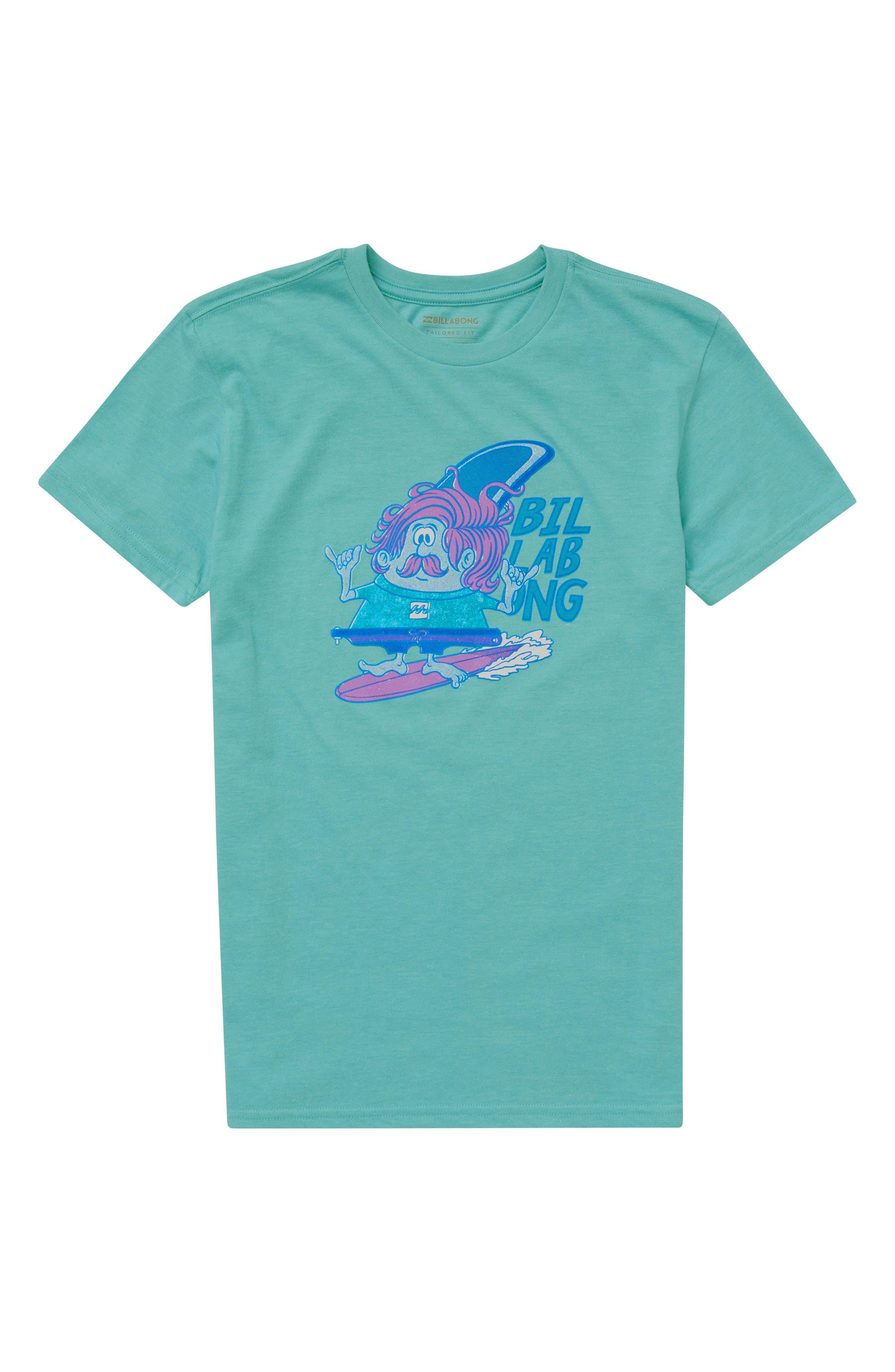Finny Graphic T-Shirt,                             Main thumbnail 1, color,                             Aqua
