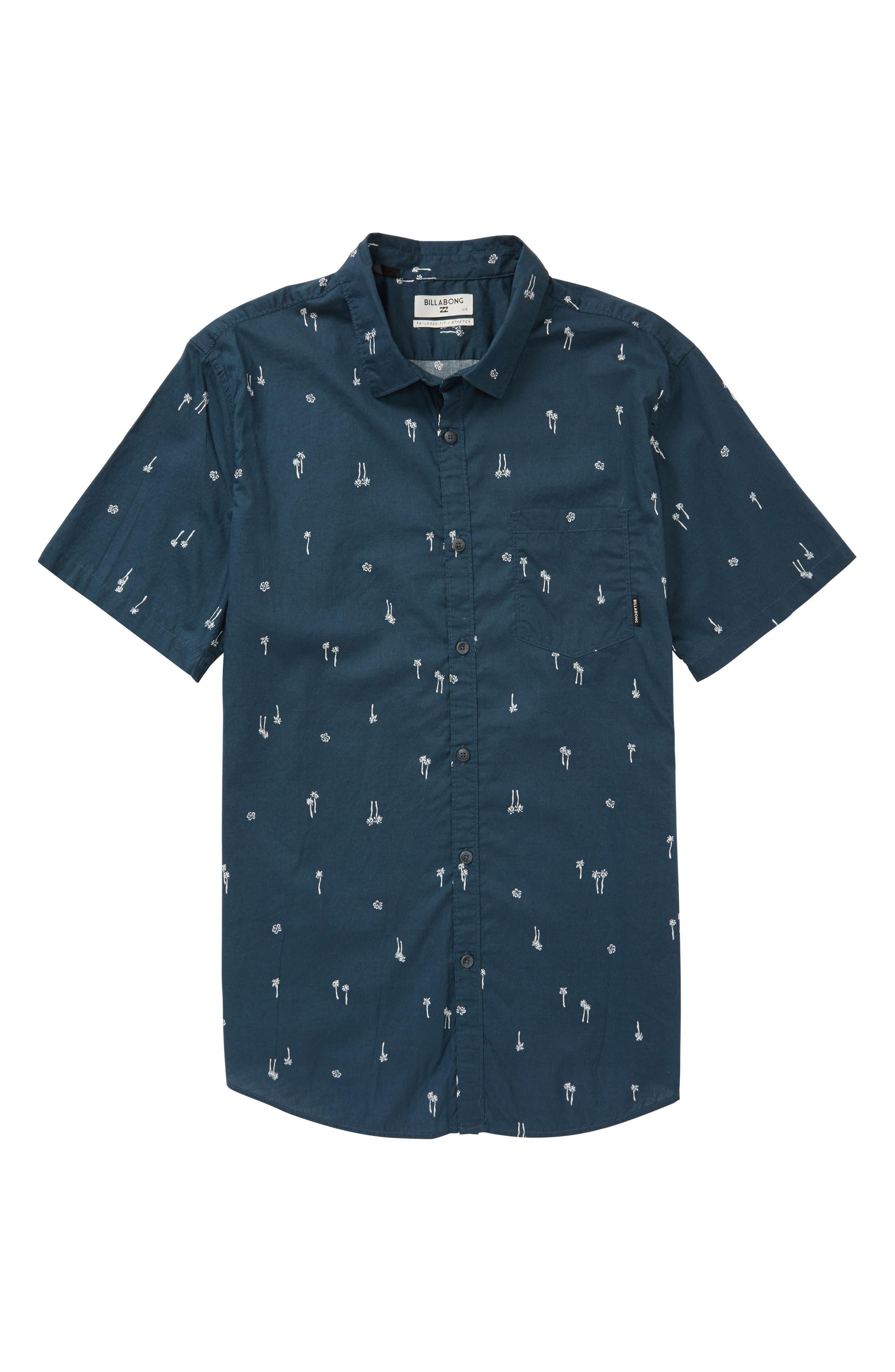 Sundays Woven Shirt,                         Main,                         color, Navy