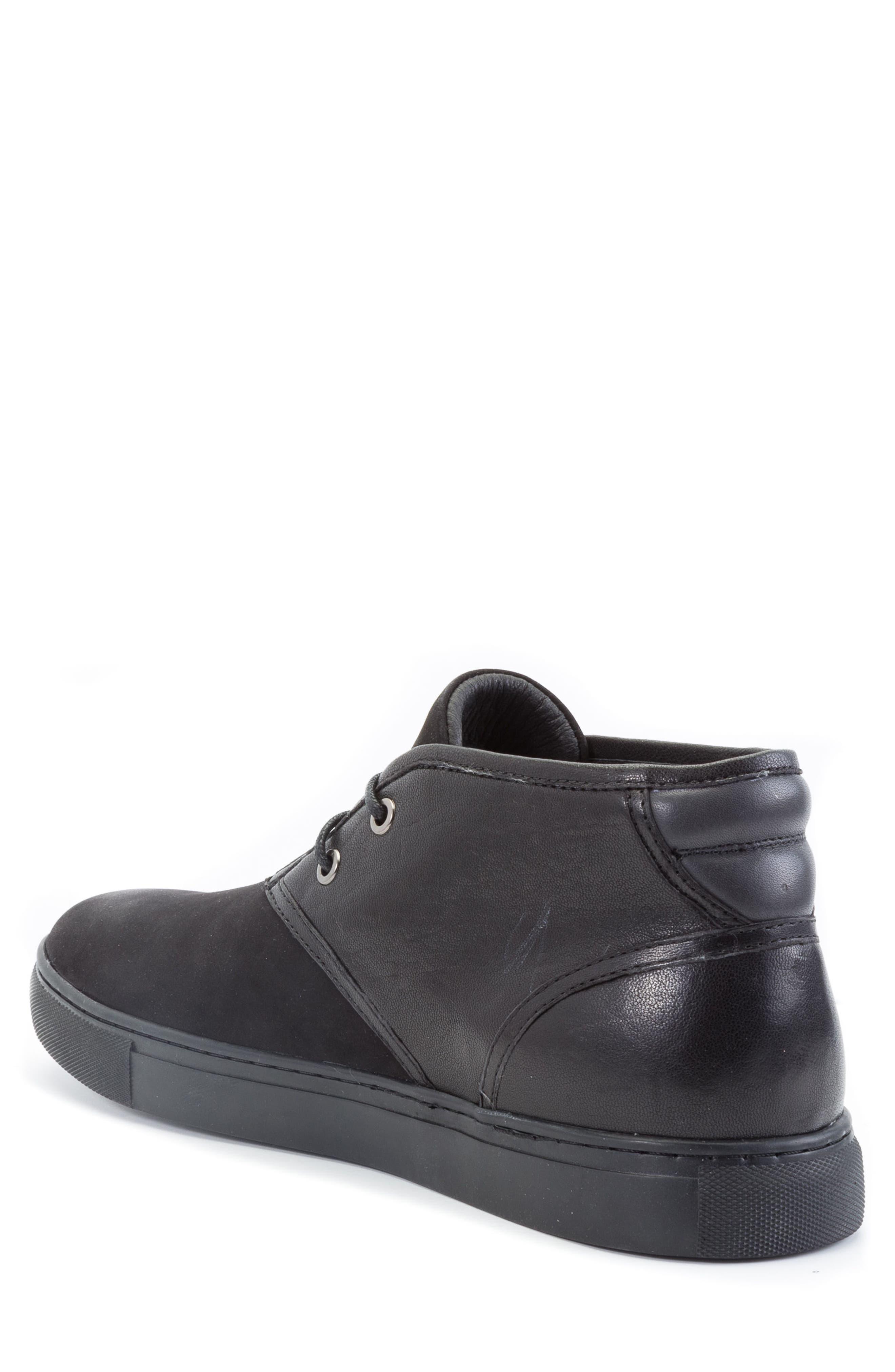 Catlett Chukka Sneaker,                             Alternate thumbnail 2, color,                             Black Suede/ Leather