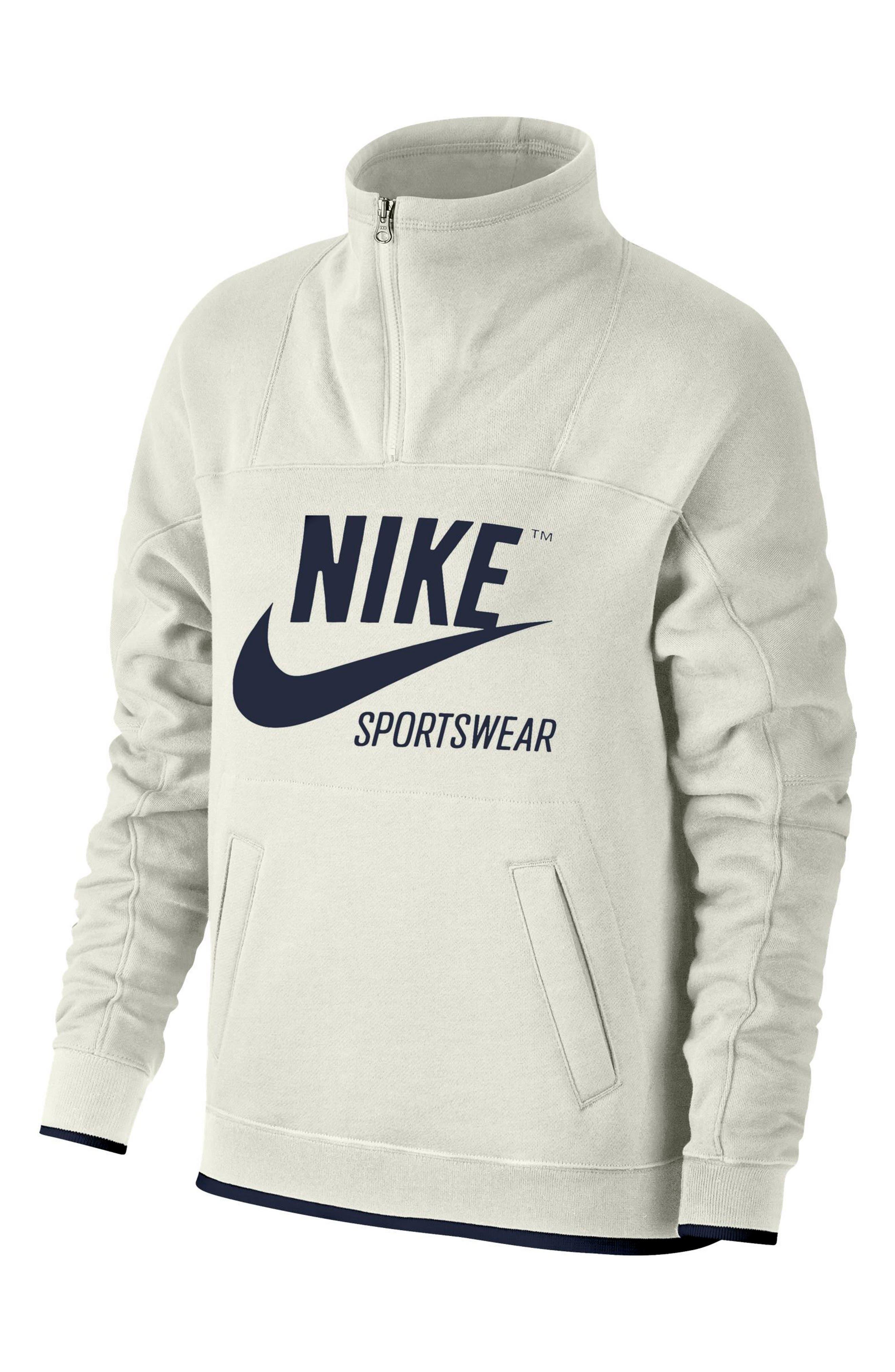 Women's Vest - Nike Element EXT Half-Zip - Deep Royal Blue : J80p8144