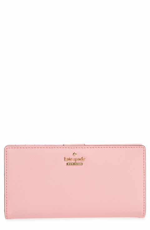 Kate spade new york pink easter gifts nordstrom kate spade new york cameron street stacy textured leather wallet negle Images