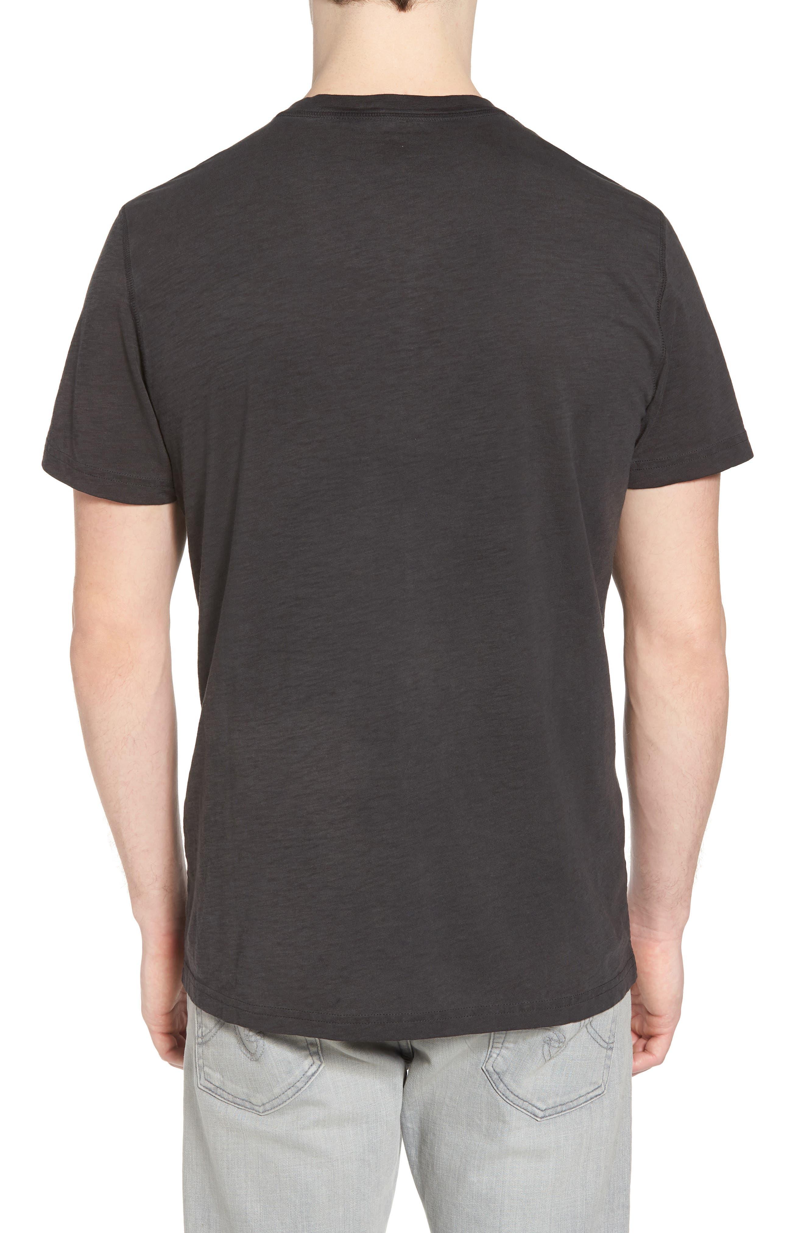 Sunwash Henley T-Shirt,                             Alternate thumbnail 2, color,                             Black