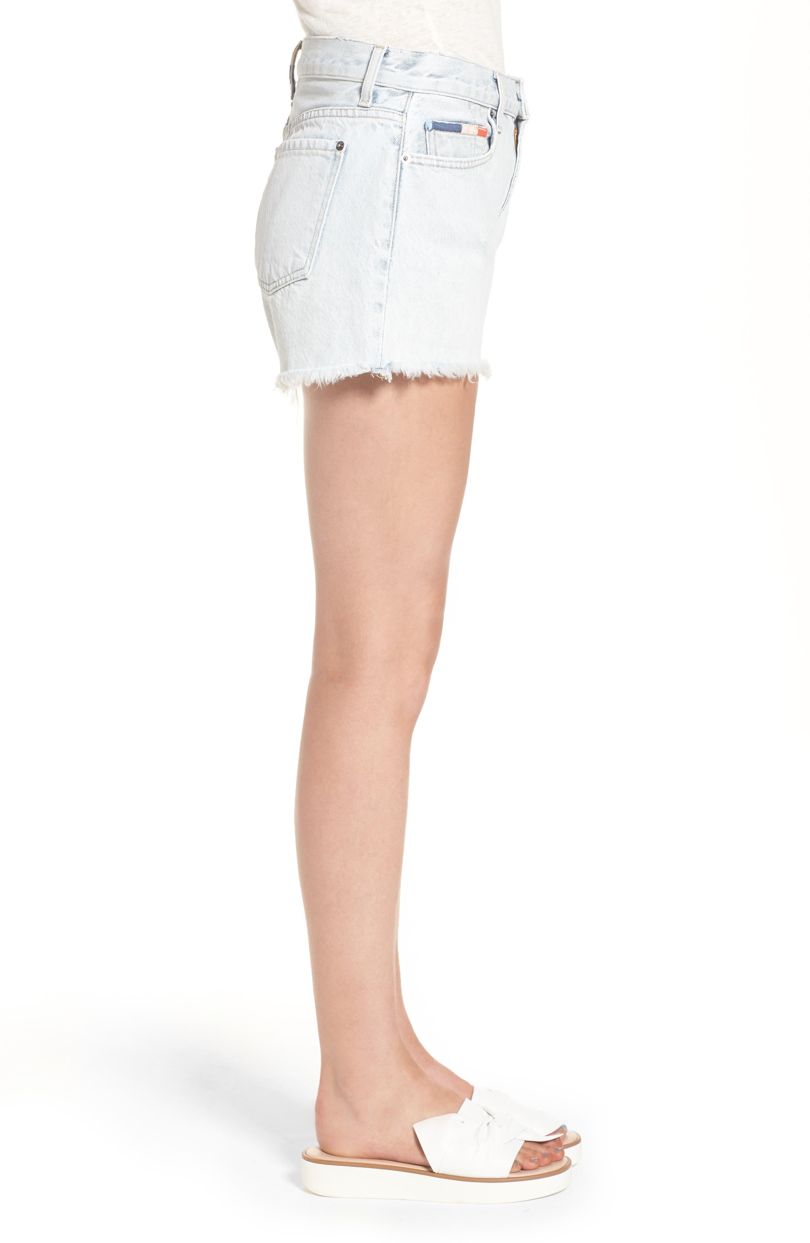 x Margherita Amore Denim Cutoff Shorts,                             Alternate thumbnail 3, color,                             Capriember