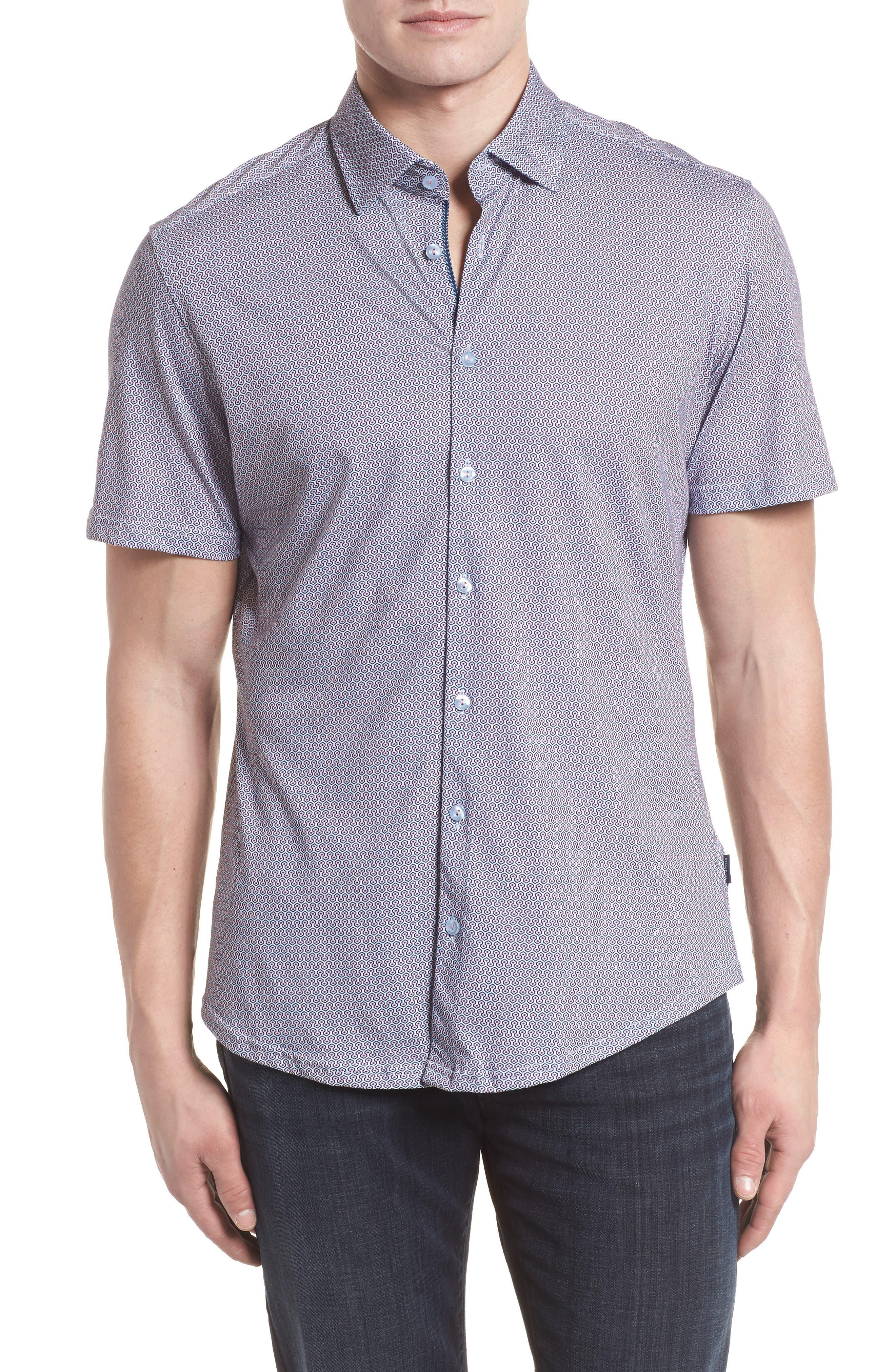 Knit Sport Shirt,                             Main thumbnail 1, color,                             Pink