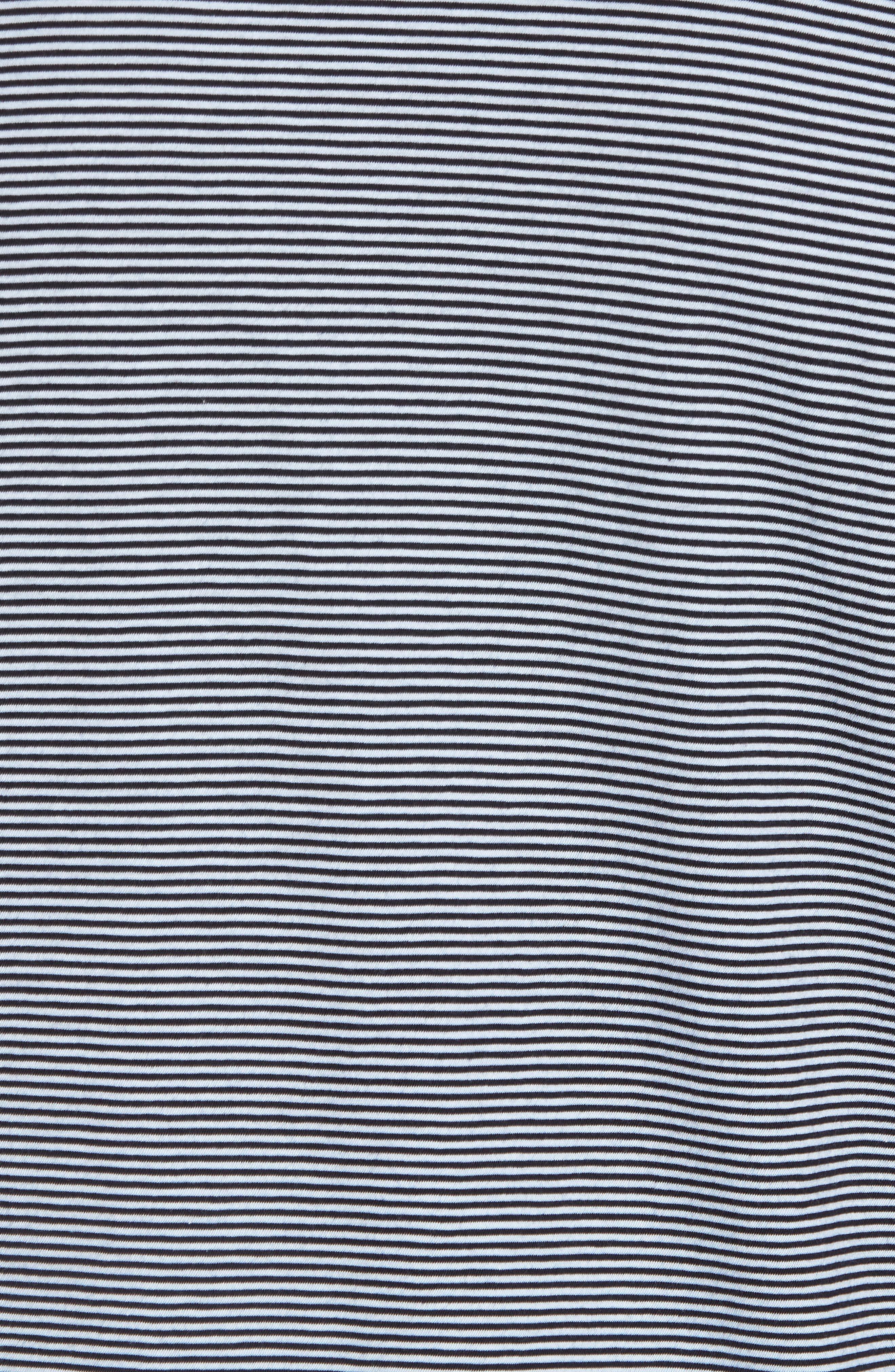 Slim Fit Stripe Pocket T-Shirt,                             Alternate thumbnail 7, color,                             New Coastal/ Feather