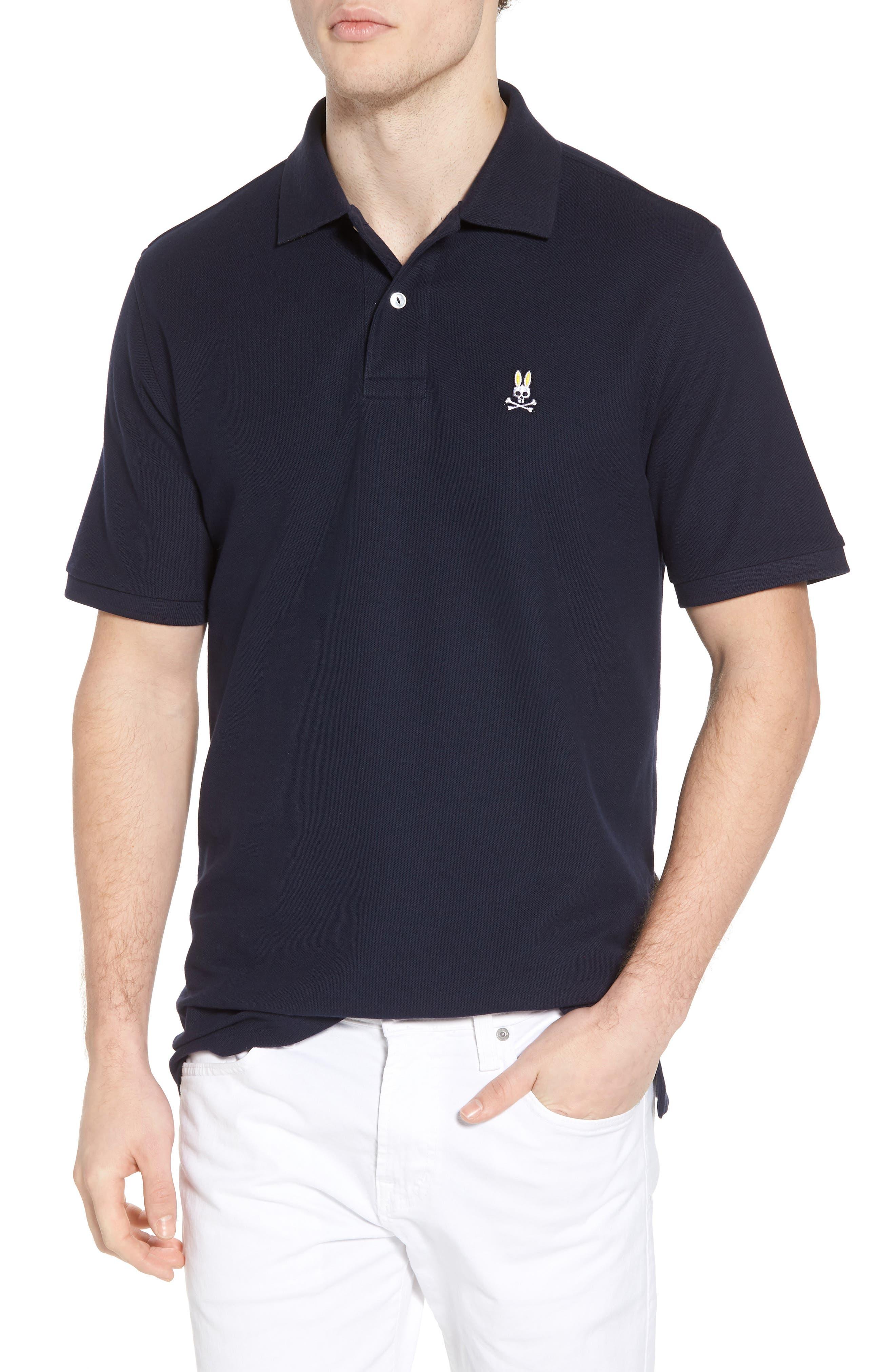 Classic Piqué Polo,                         Main,                         color, Navy