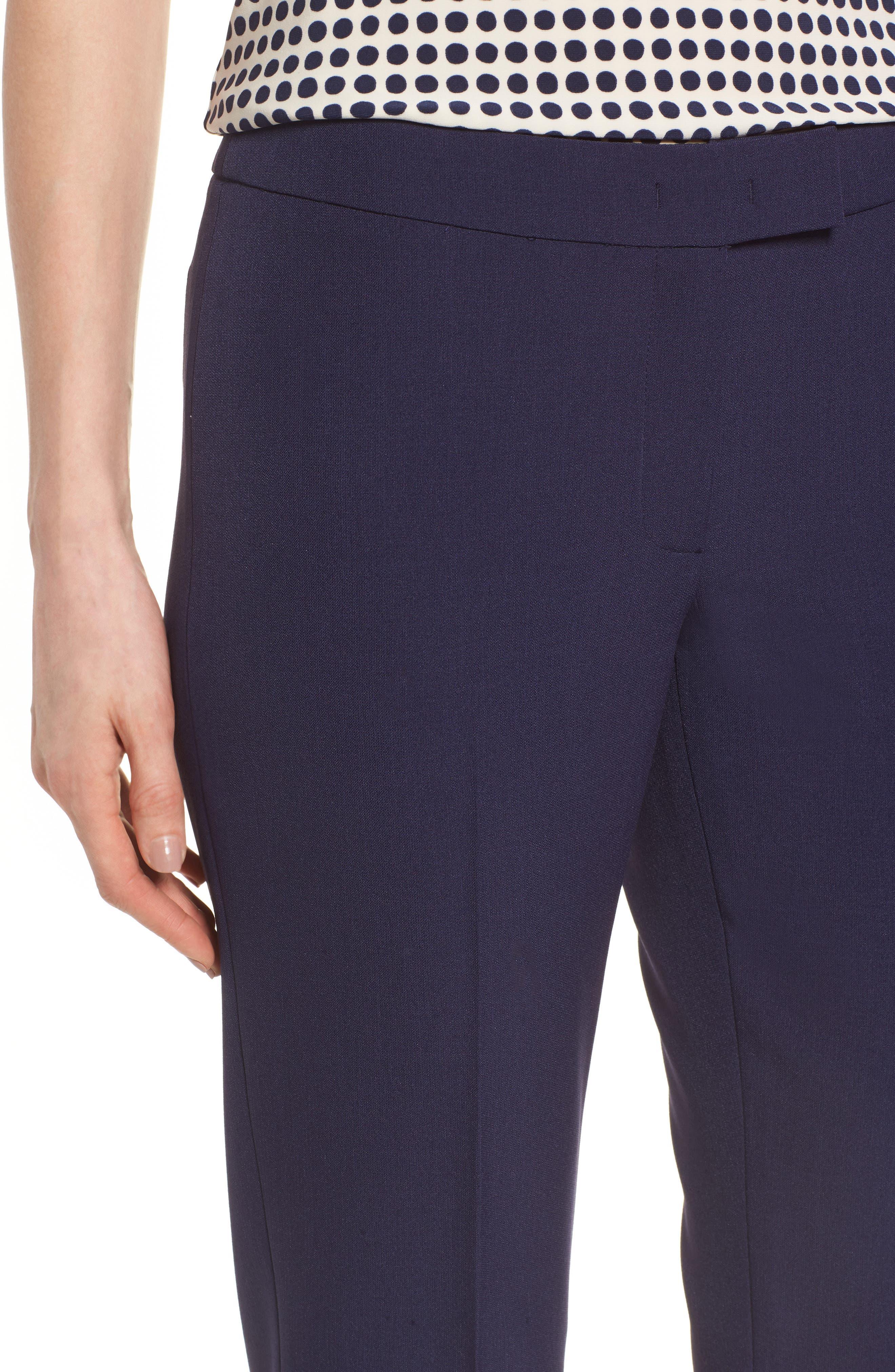 Crepe Slim Pants,                             Alternate thumbnail 4, color,                             Breton Blue