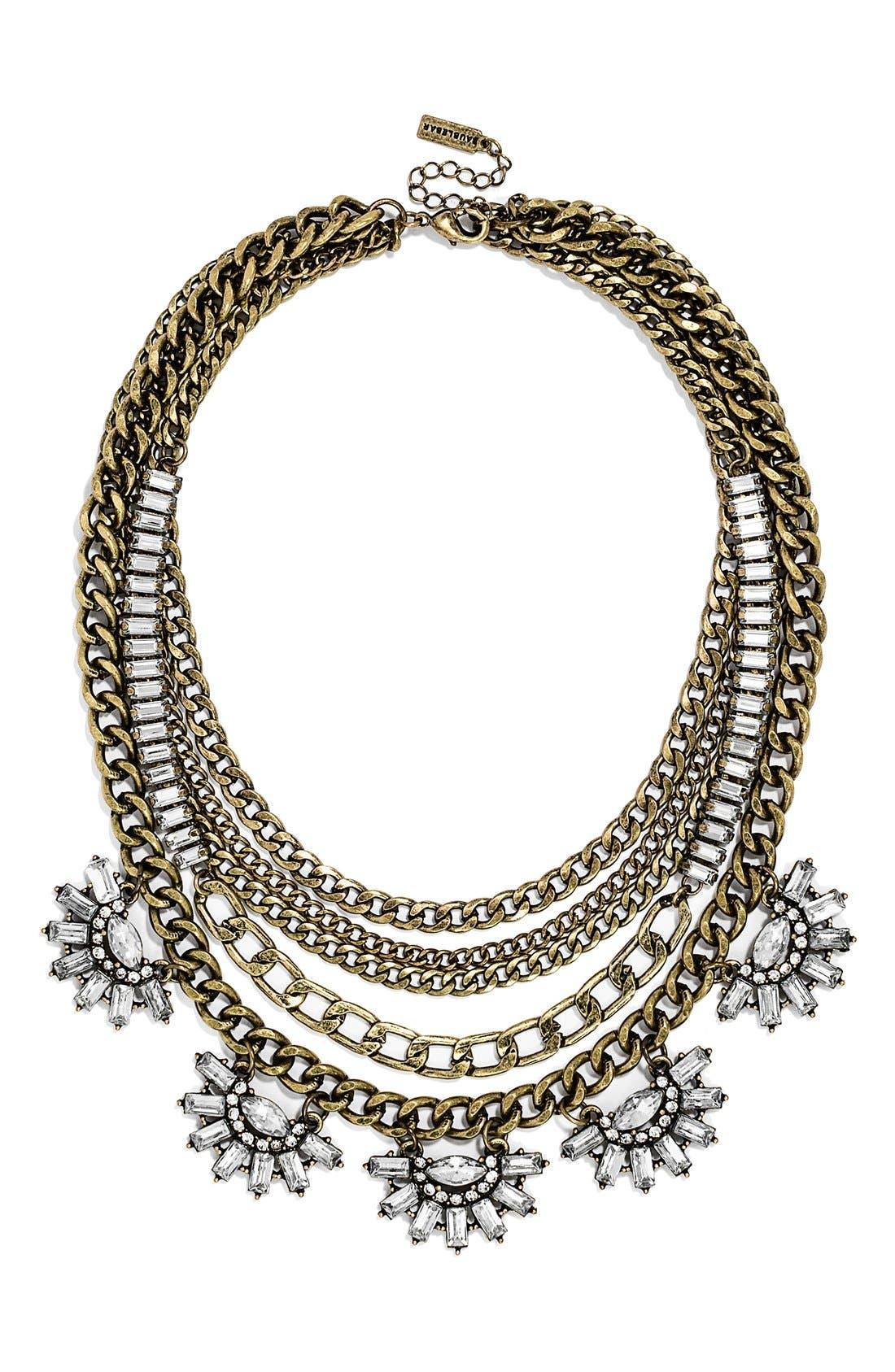 Main Image - BaubleBar 'Sundial' Chain Bib Necklace