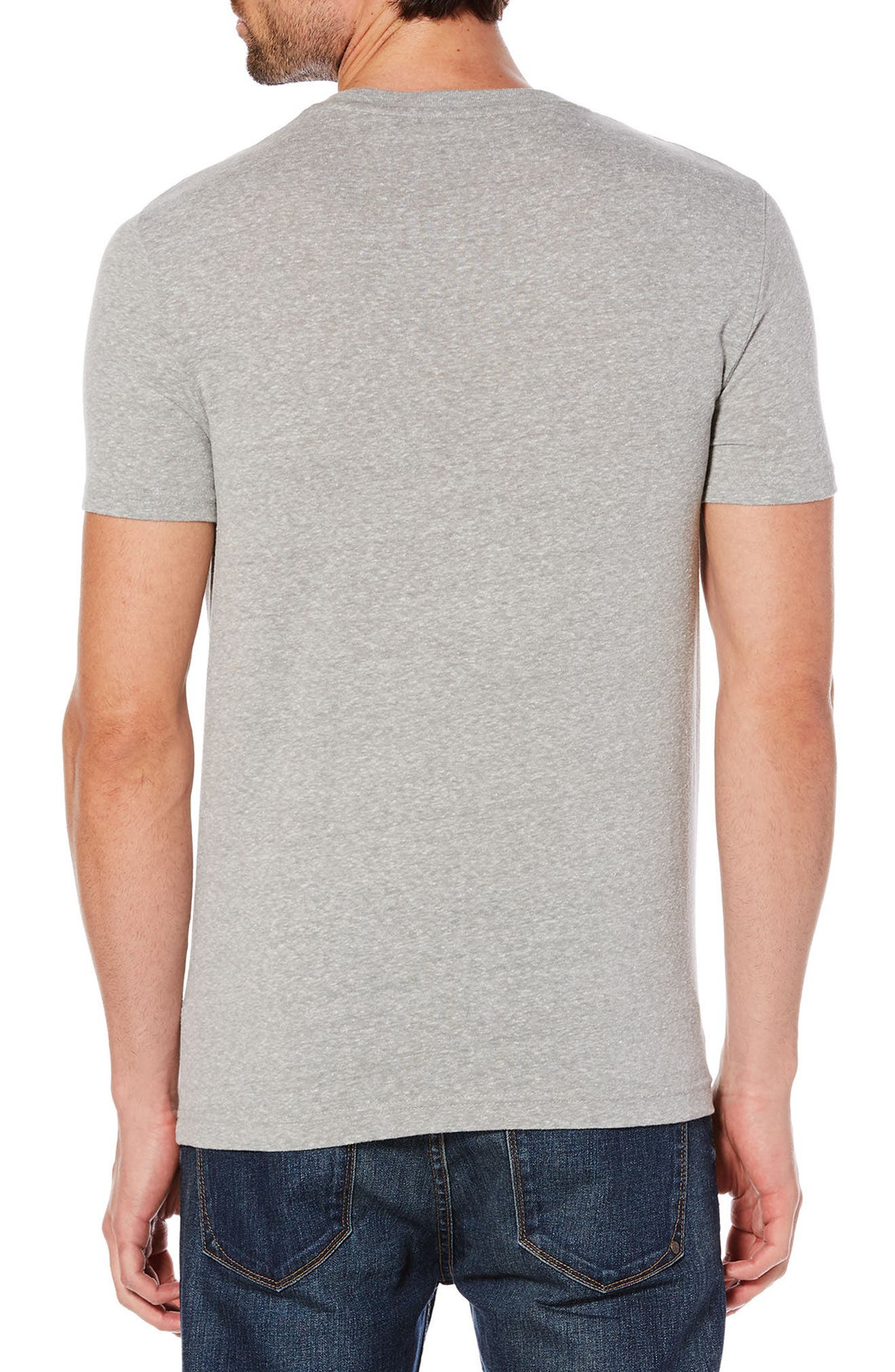 Engineered Stripe Pete T-Shirt,                             Alternate thumbnail 2, color,                             Rain Heather