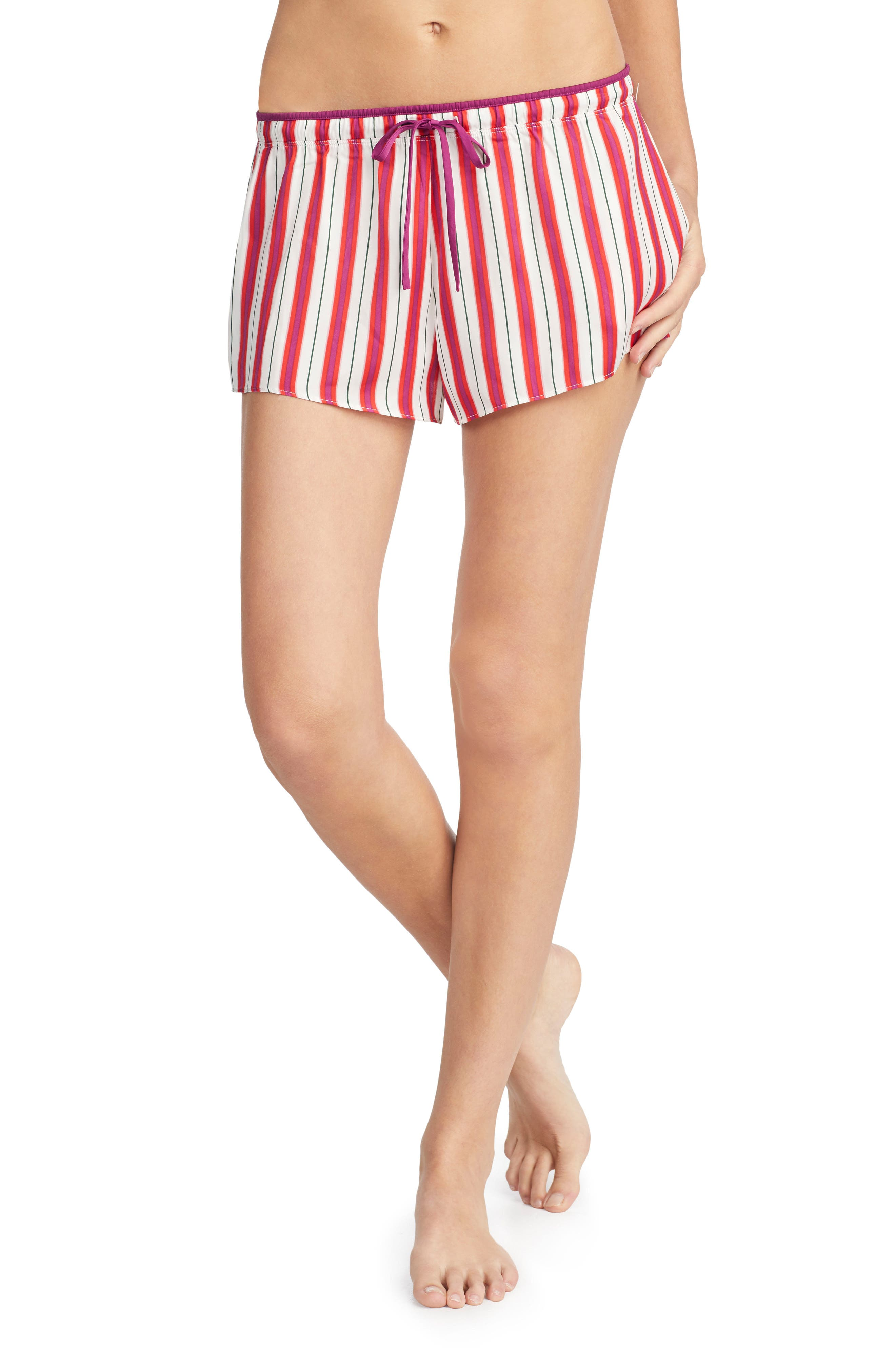 Satin Boxers,                         Main,                         color, Just Nude Stripe