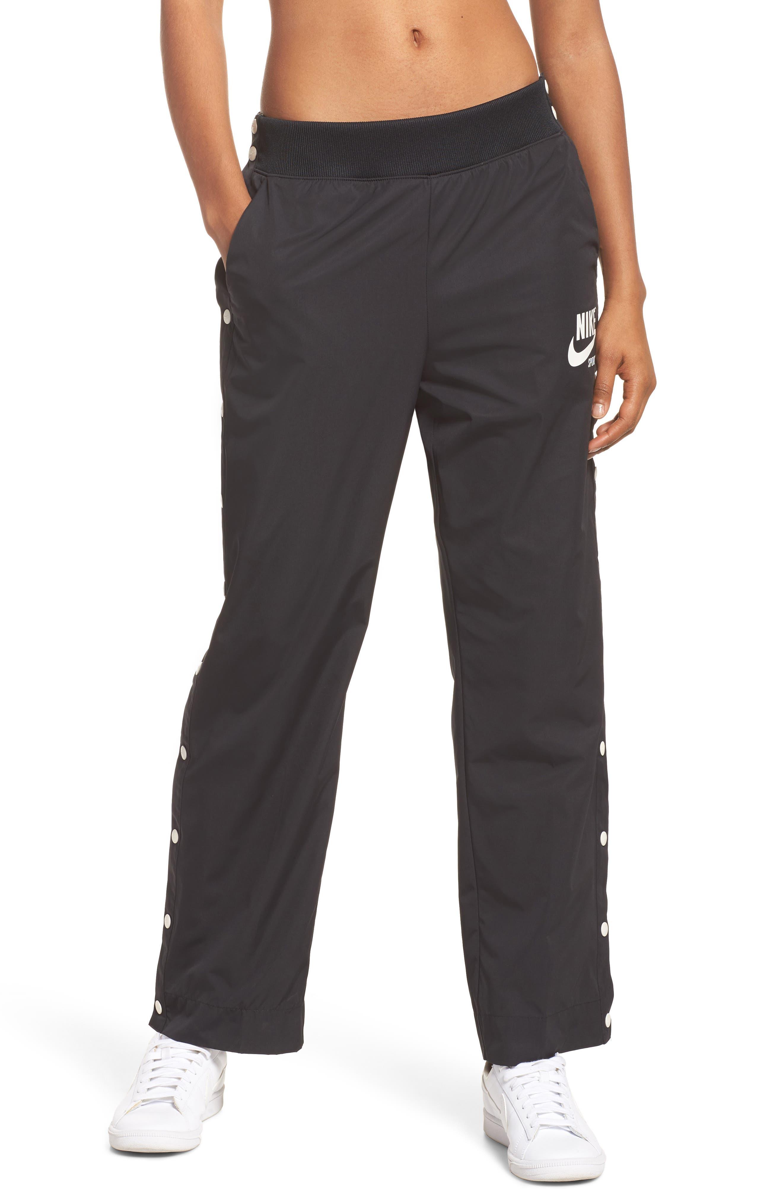 Sportswear Archive Snap Track Pants,                             Main thumbnail 1, color,                             Black/ Sail