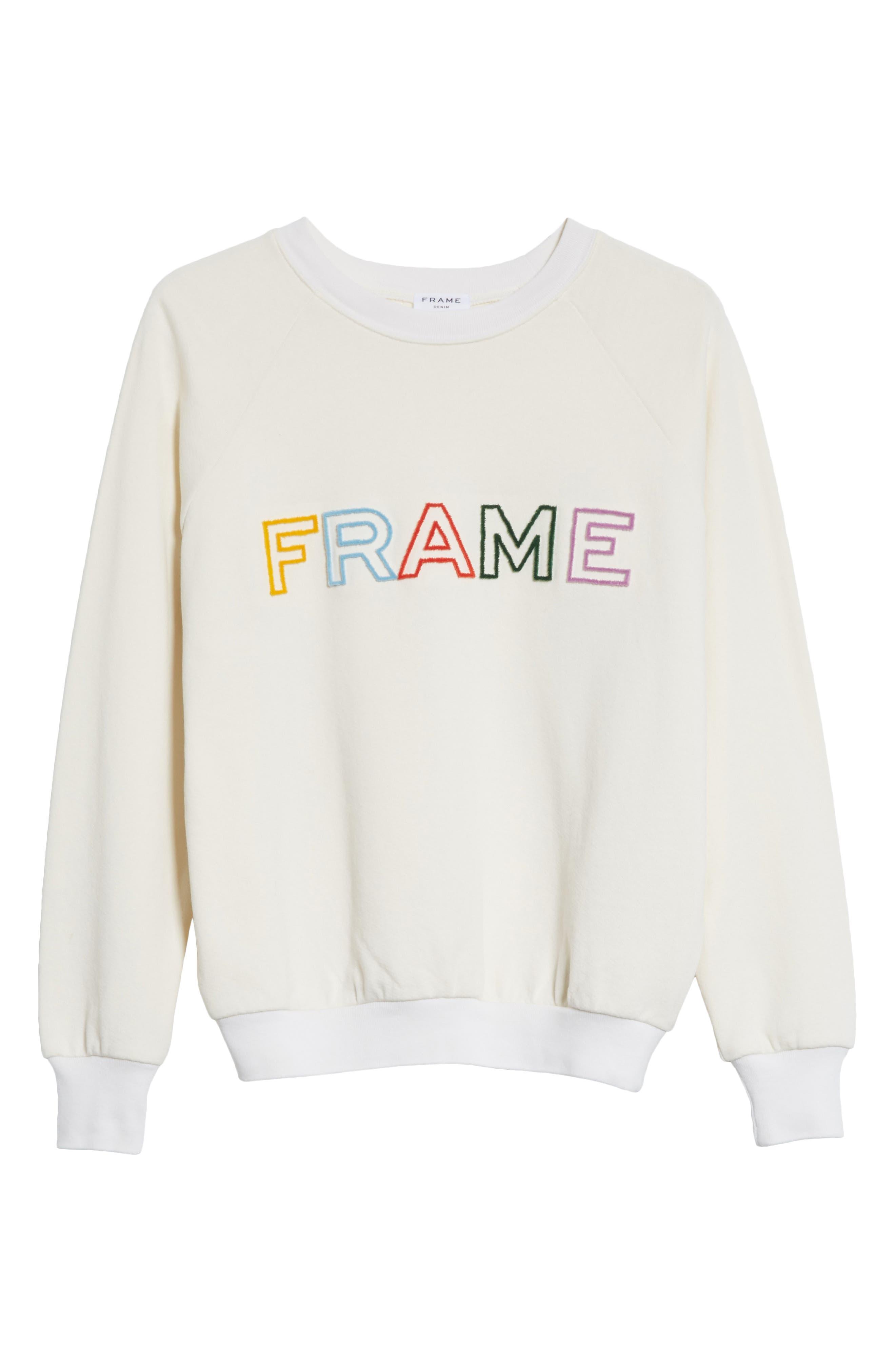 Logo Sweatshirt,                             Alternate thumbnail 7, color,                             Off White