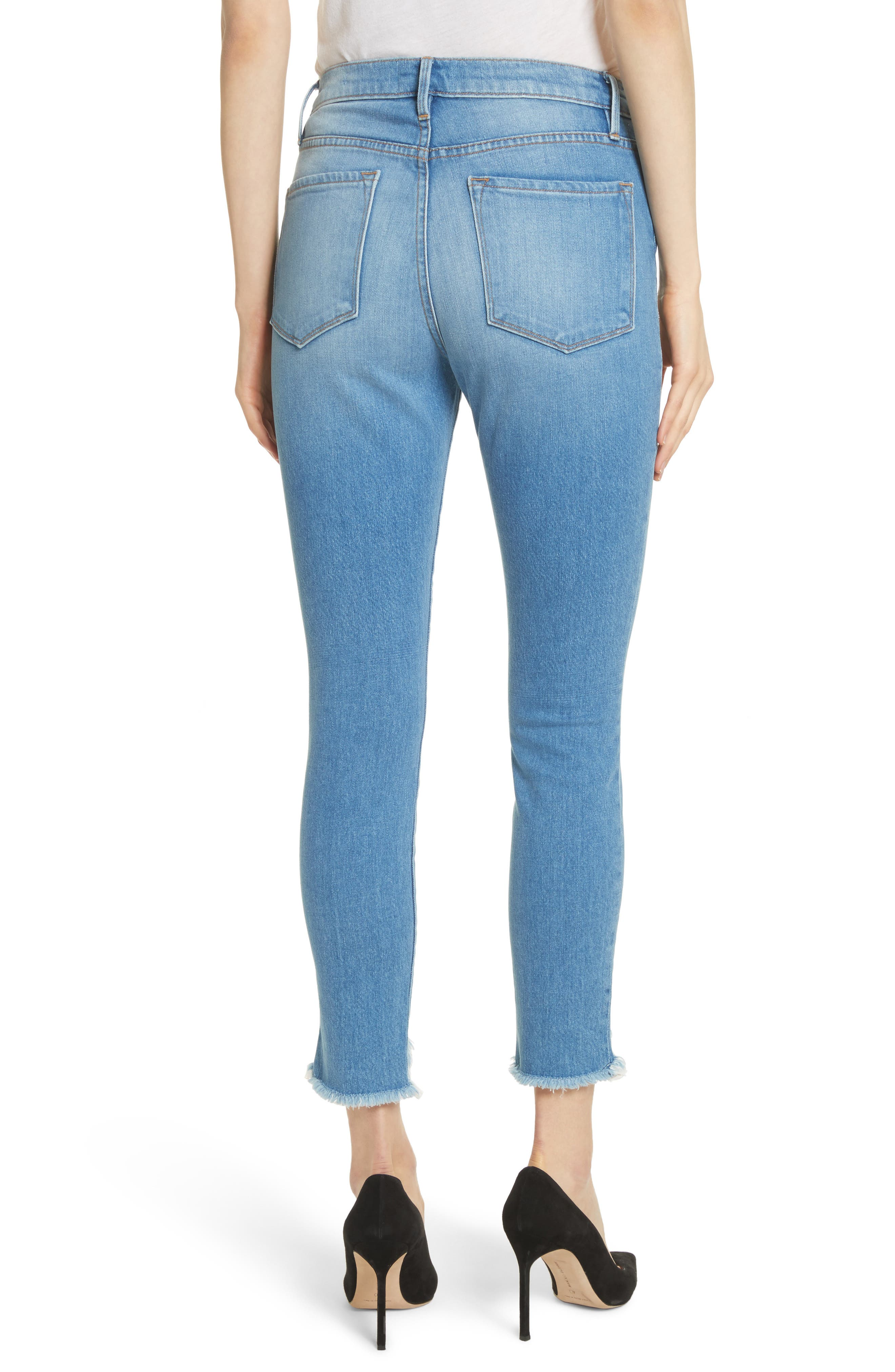 Ali High Waist Ankle Skinny Jeans,                             Alternate thumbnail 2, color,                             Opus