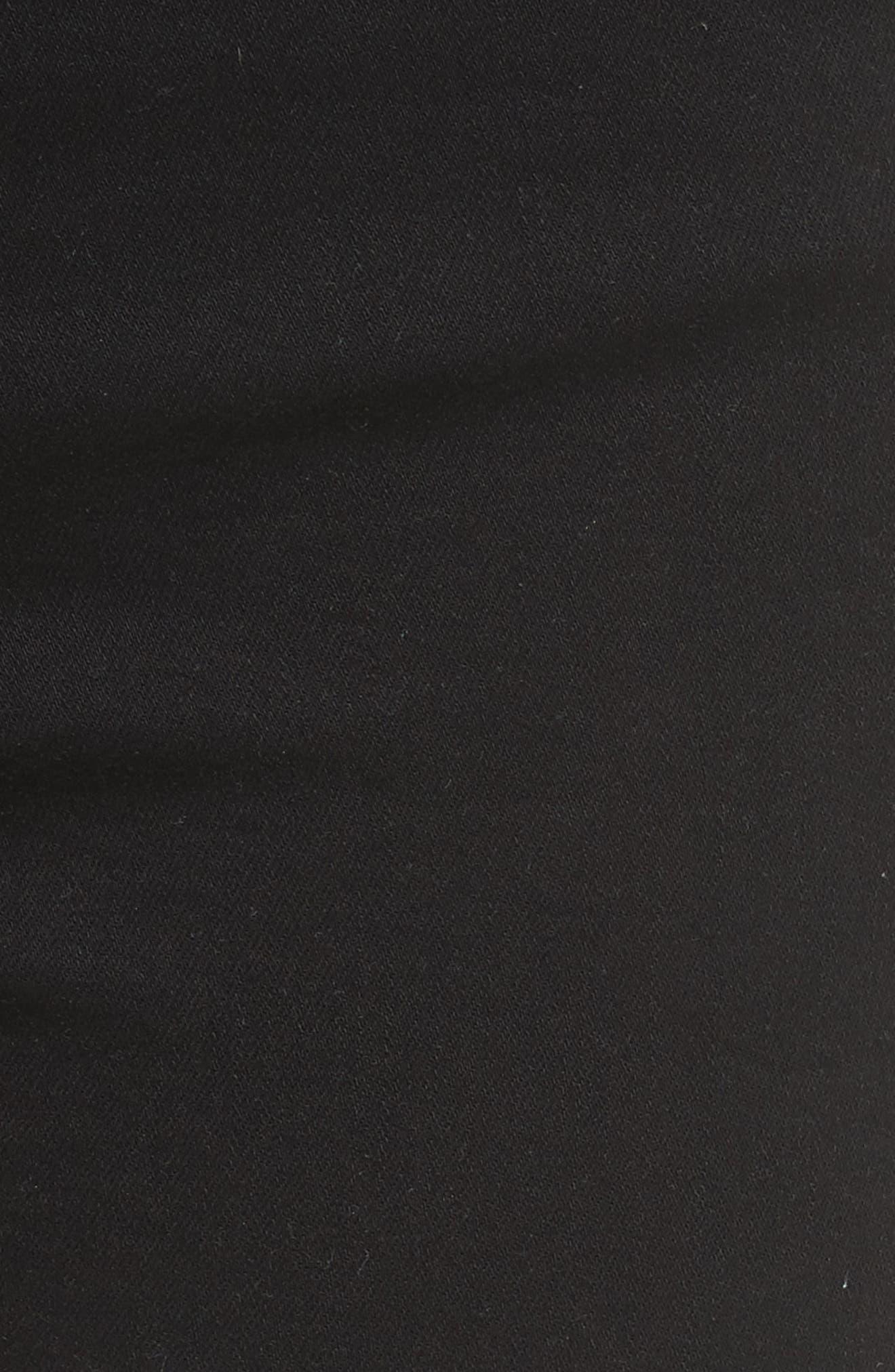 Alternate Image 5  - FRAME Le High Shredded Skinny Jeans (Film Noir)