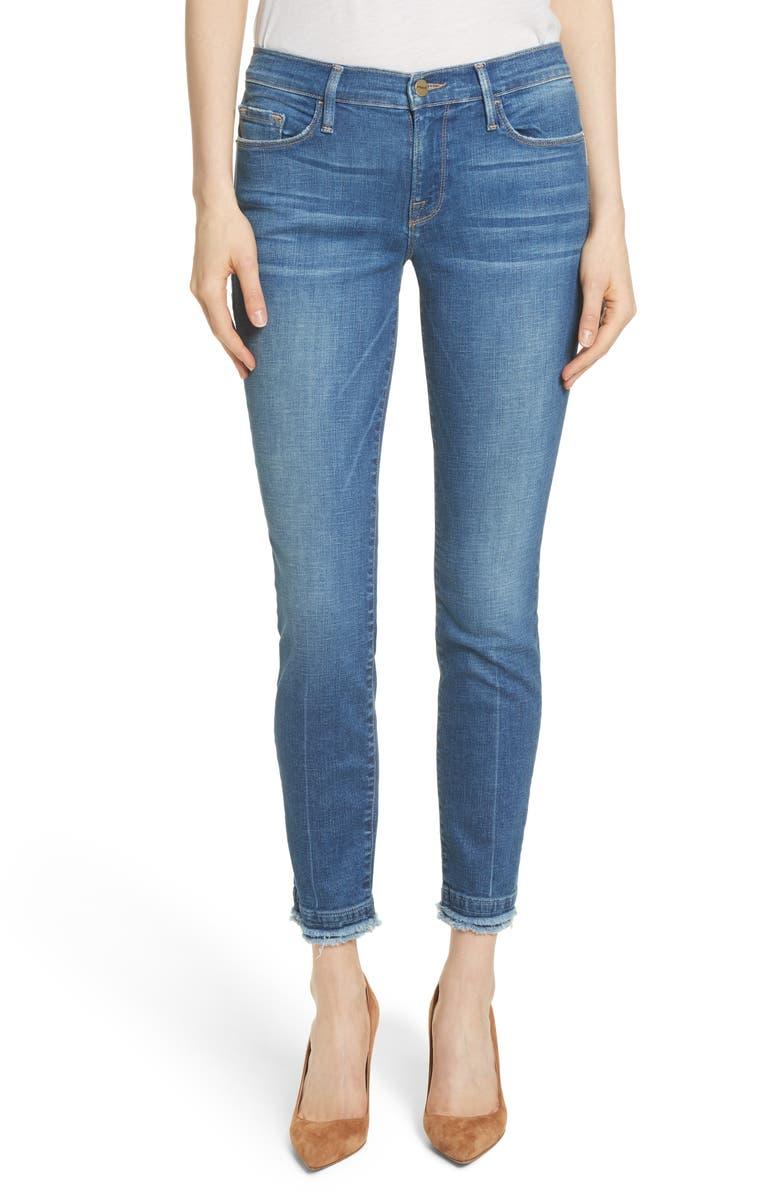 Le Skinny de Jeanne Double Hem Crop Jeans