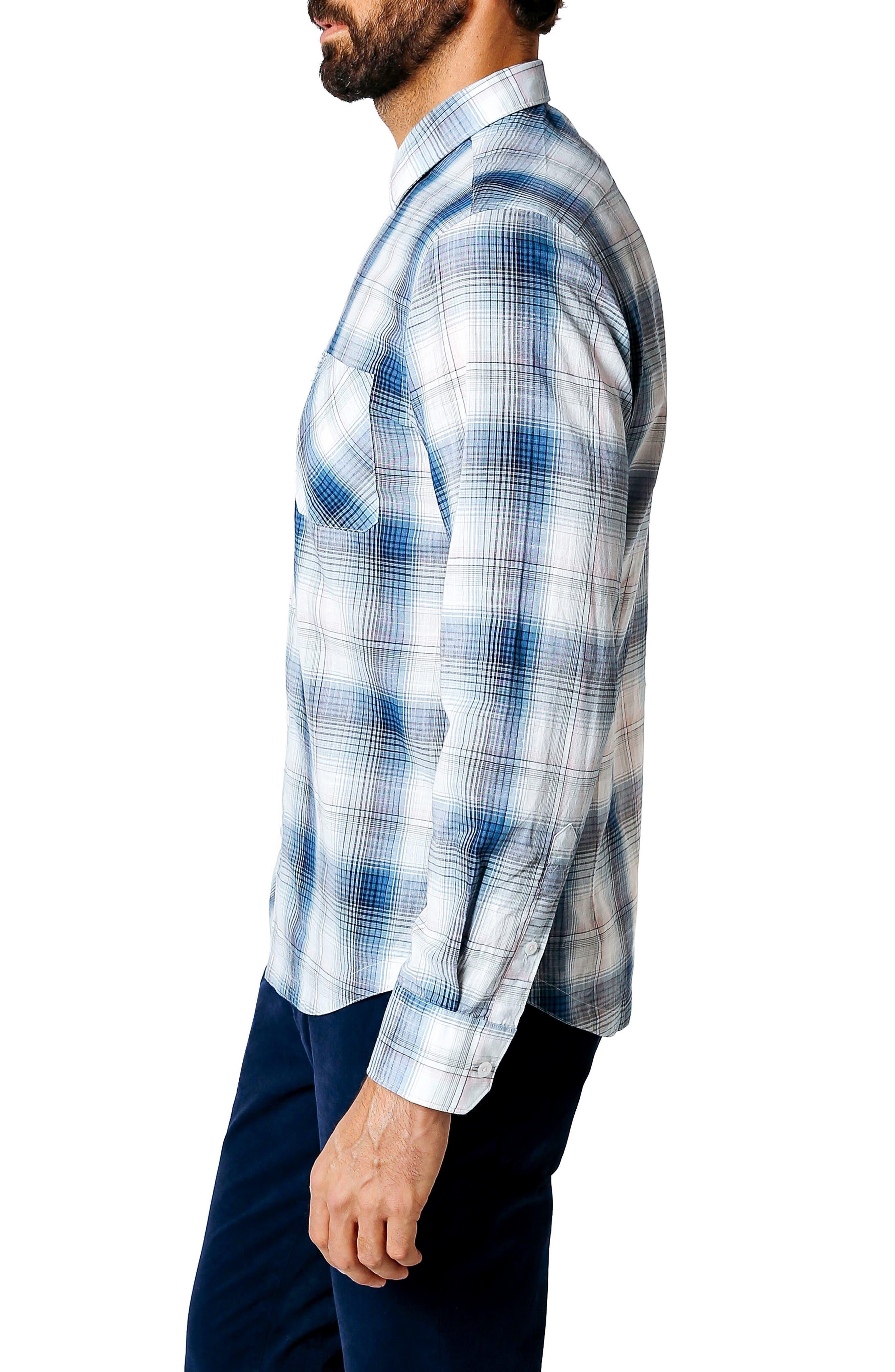 Alternate Image 3  - Good Man Brand Trim Fit Plaid Sport Shirt