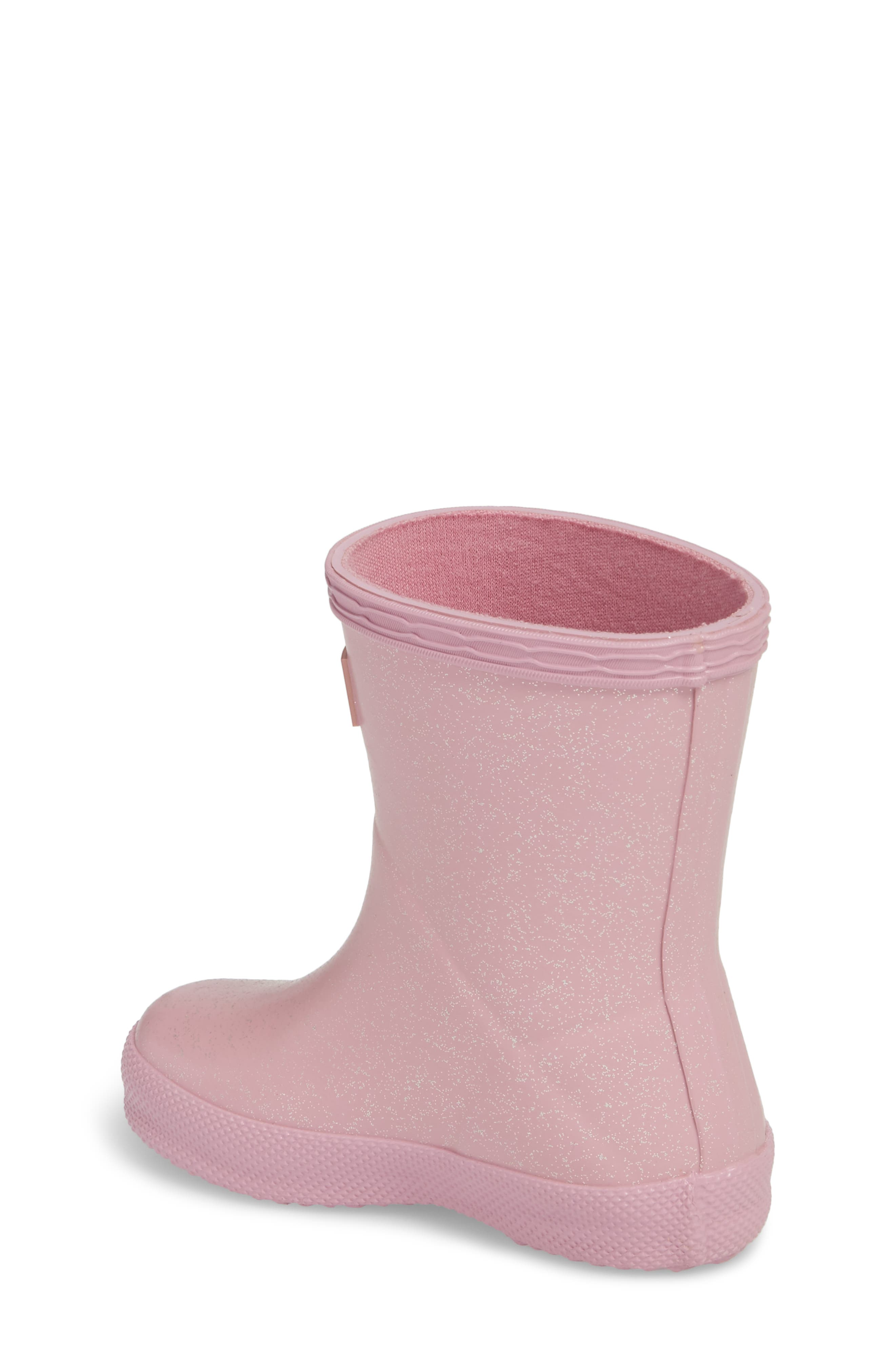 'First Classic' Glitter Rain Boot,                             Alternate thumbnail 2, color,                             Blossom