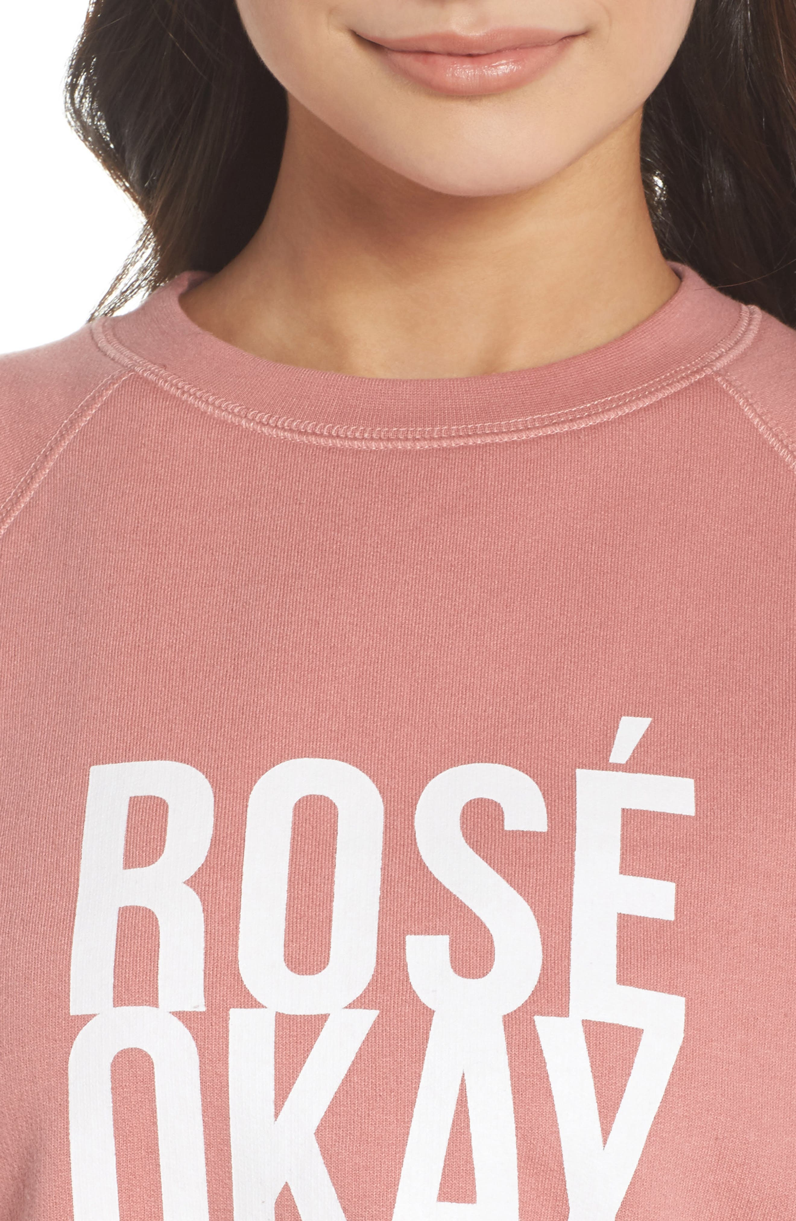 Rosé Okay Sweatshirt,                             Alternate thumbnail 5, color,                             Dusty Rose