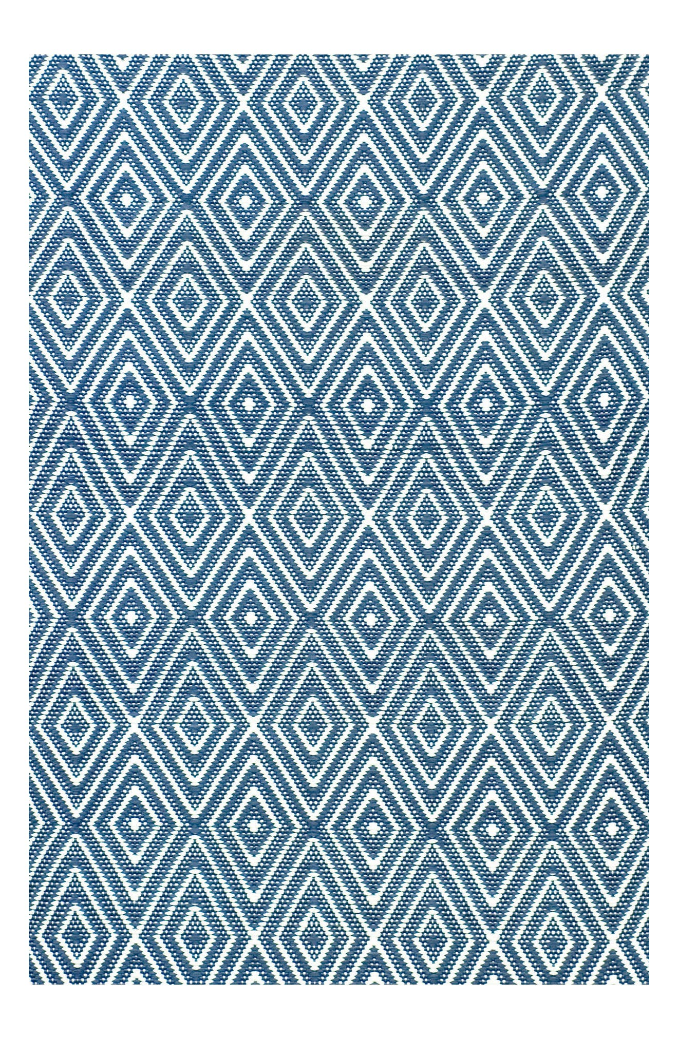 Diamond Indoor/Outdoor Rug,                         Main,                         color, Denim/ White