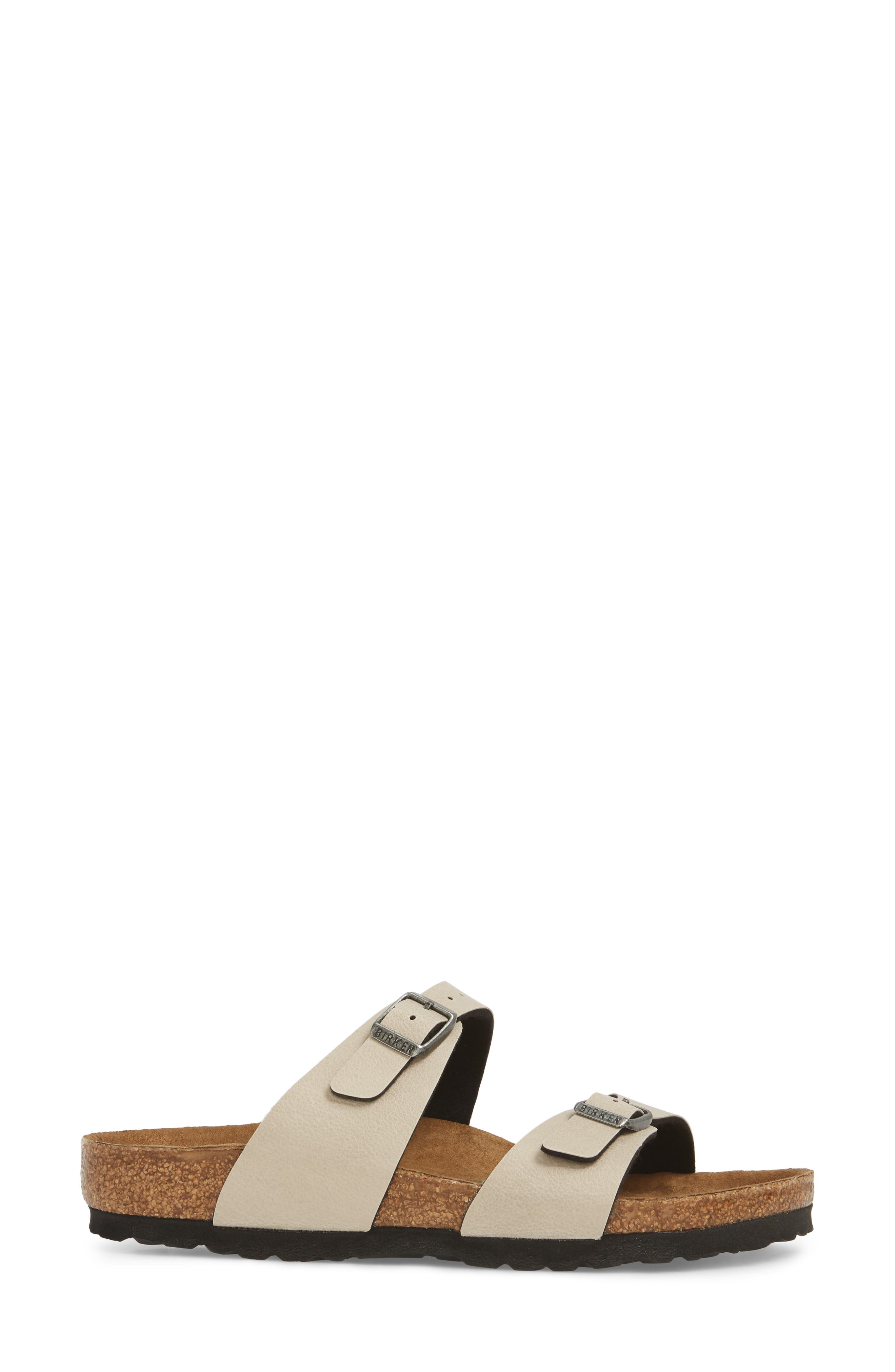'Sydney' Sandal,                             Alternate thumbnail 3, color,                             Stone Leather