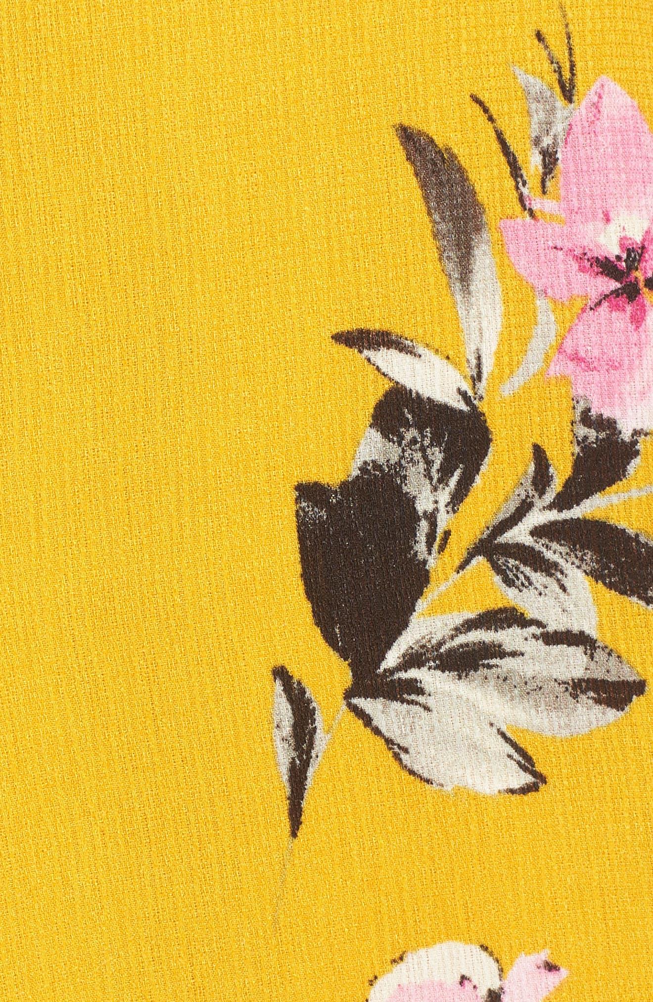 Tie Front Maxi Dress,                             Alternate thumbnail 6, color,                             Marigold