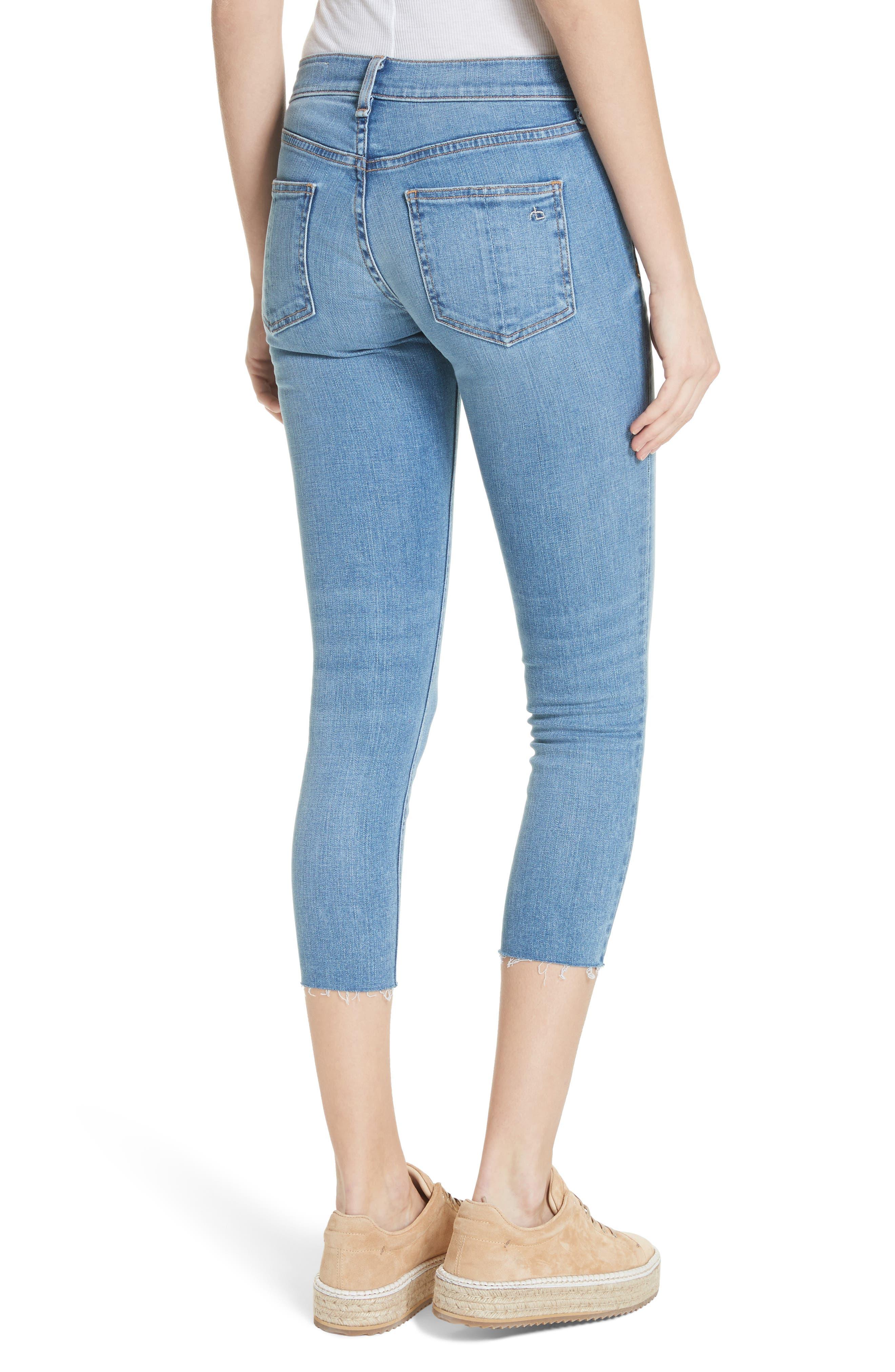 Raw Hem Capri Skinny Jeans,                             Alternate thumbnail 2, color,                             Levee