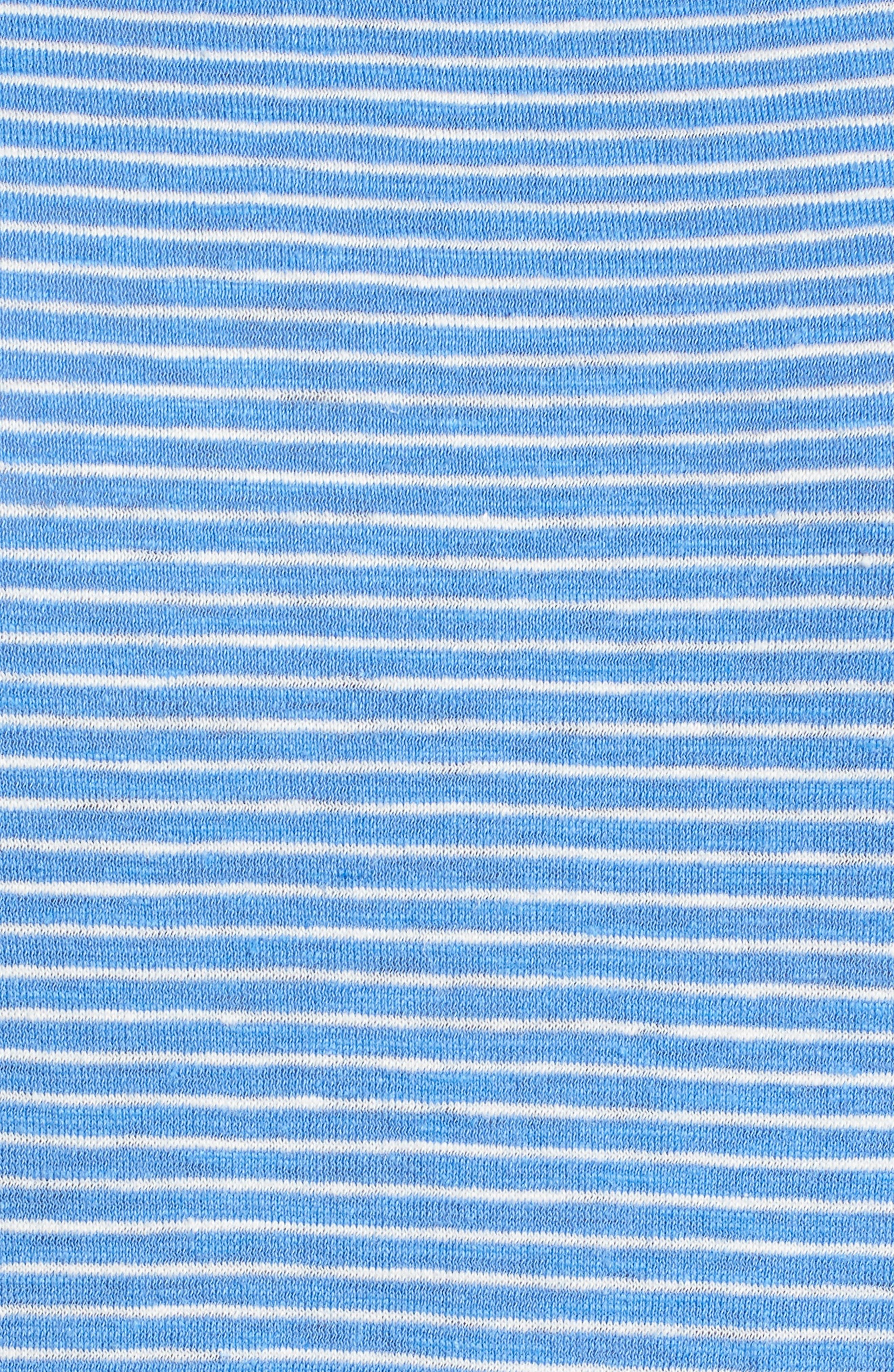 Hemp & Organic Cotton Jersey Dress,                             Alternate thumbnail 5, color,                             Bluebell