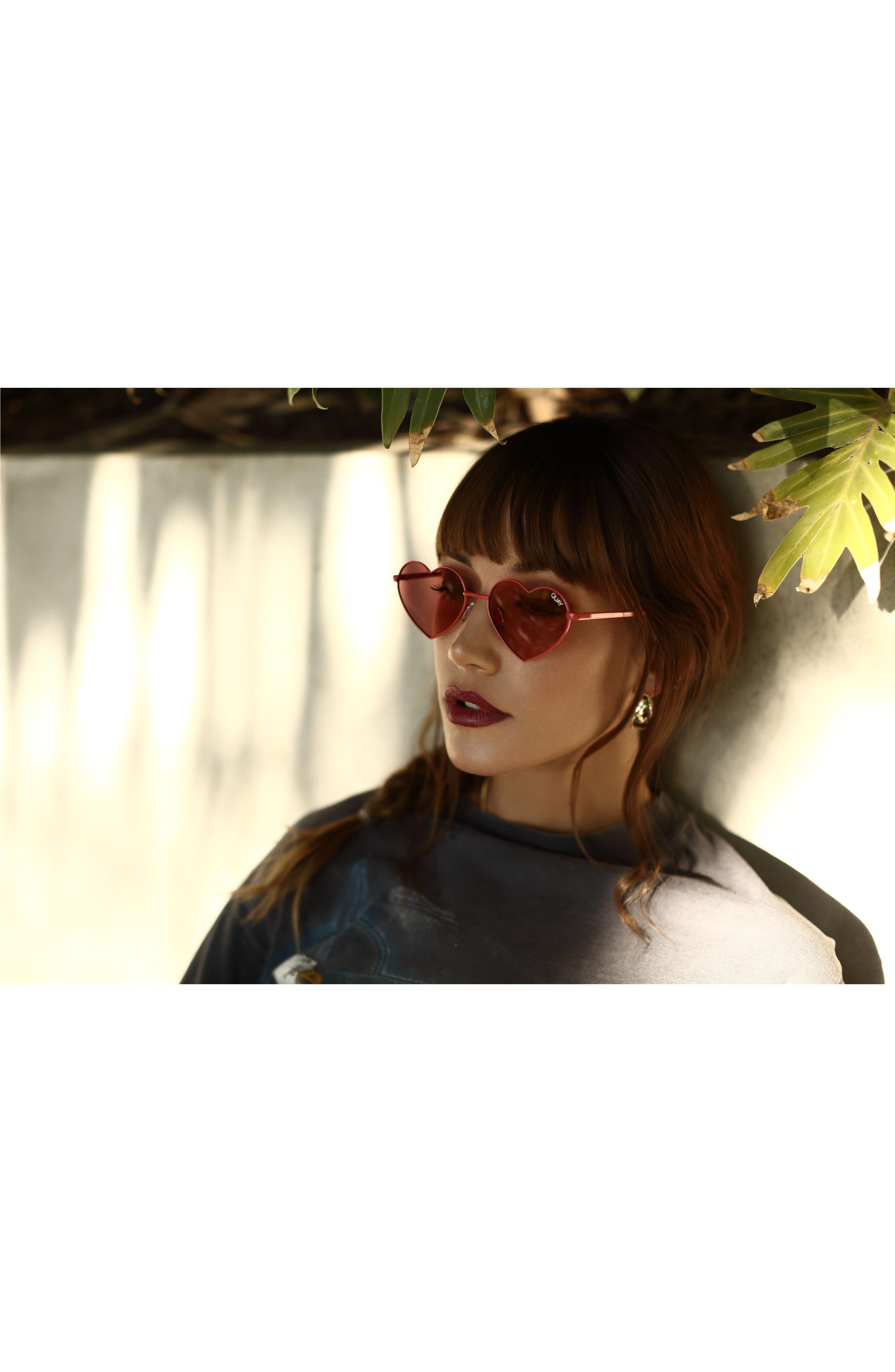 Alternate Image 3  - Quay Australia 53mm Heart Breaker Heart-Shaped Sunglasses