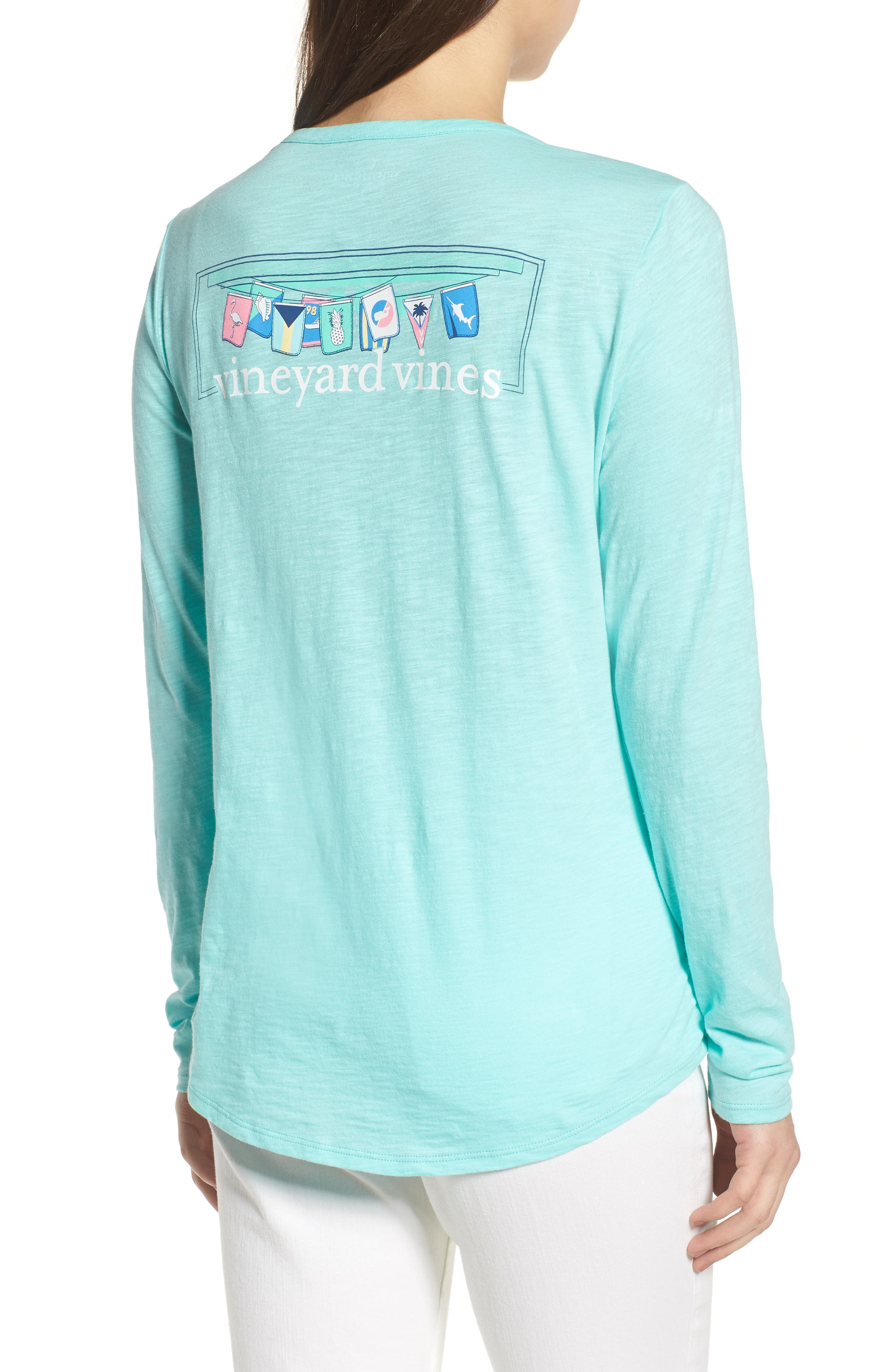 Rafter Long Sleeve Cotton Tee,                             Alternate thumbnail 2, color,                             Caicos