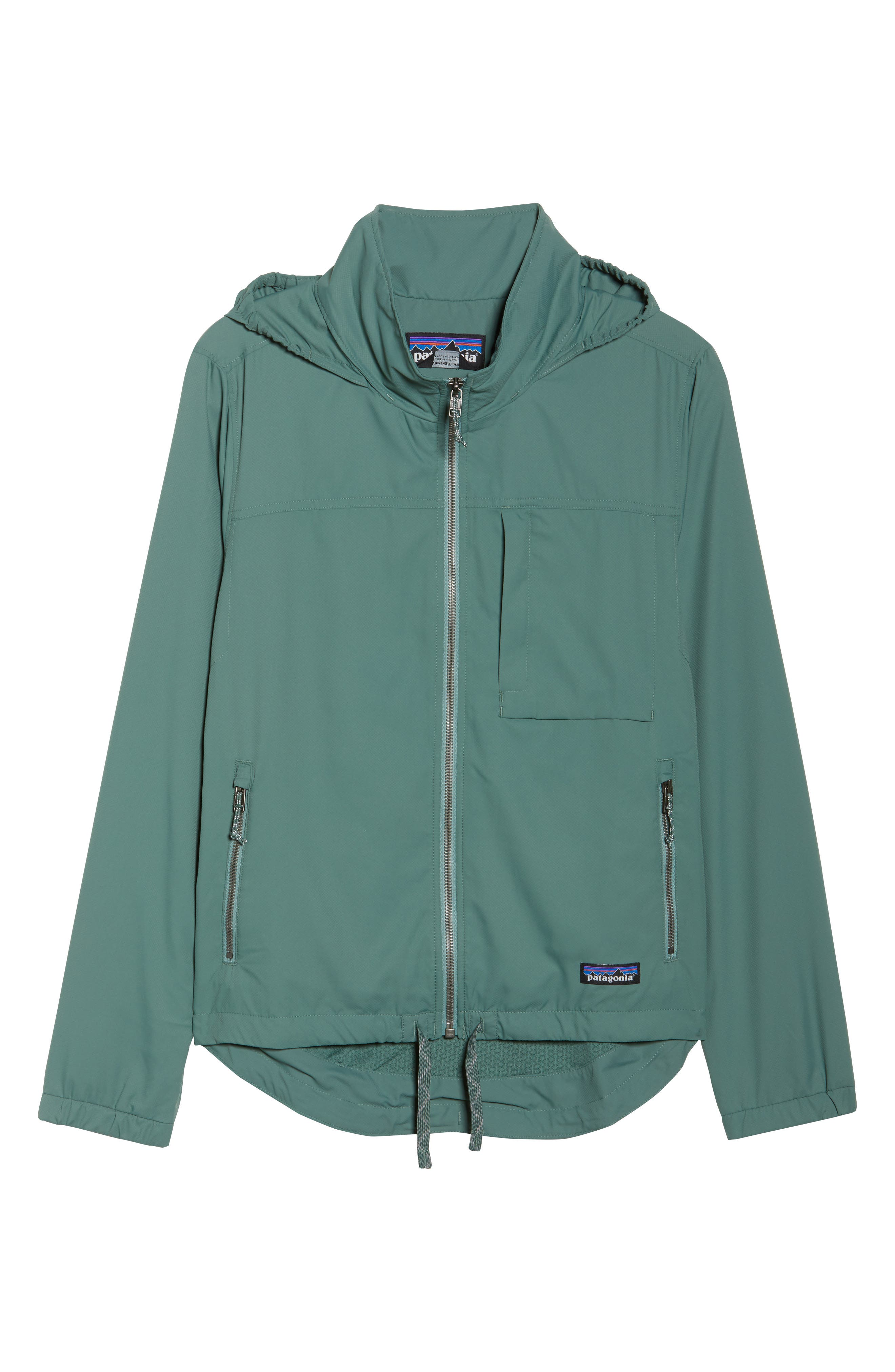 Mountain View Windbreaker Jacket,                             Alternate thumbnail 7, color,                             Pesto
