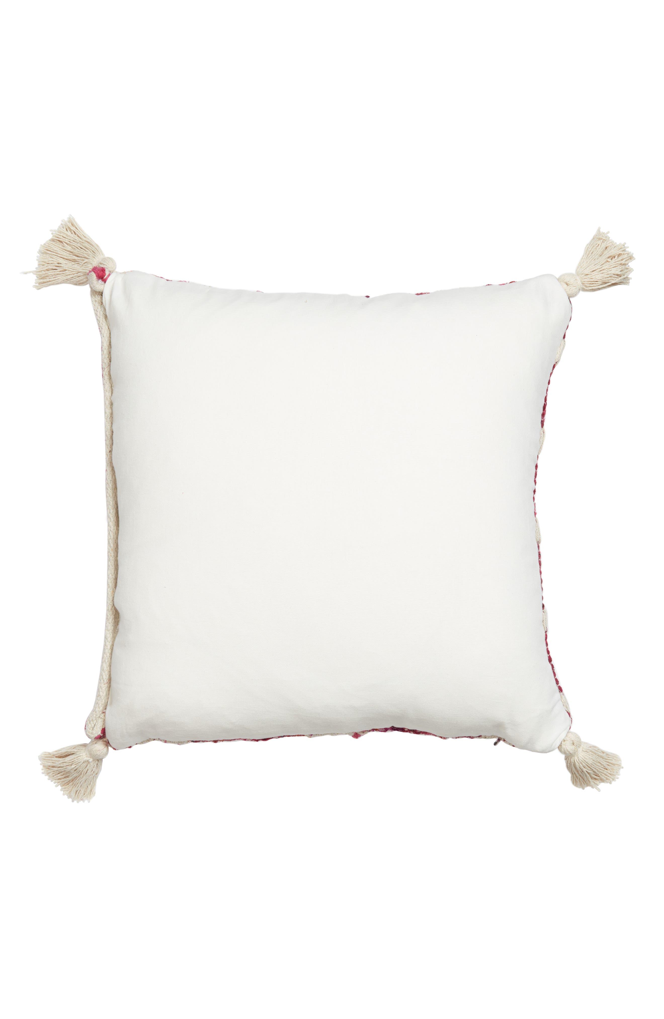 Diamond Chindi Accent Pillow,                             Alternate thumbnail 2, color,                             Hot Pink