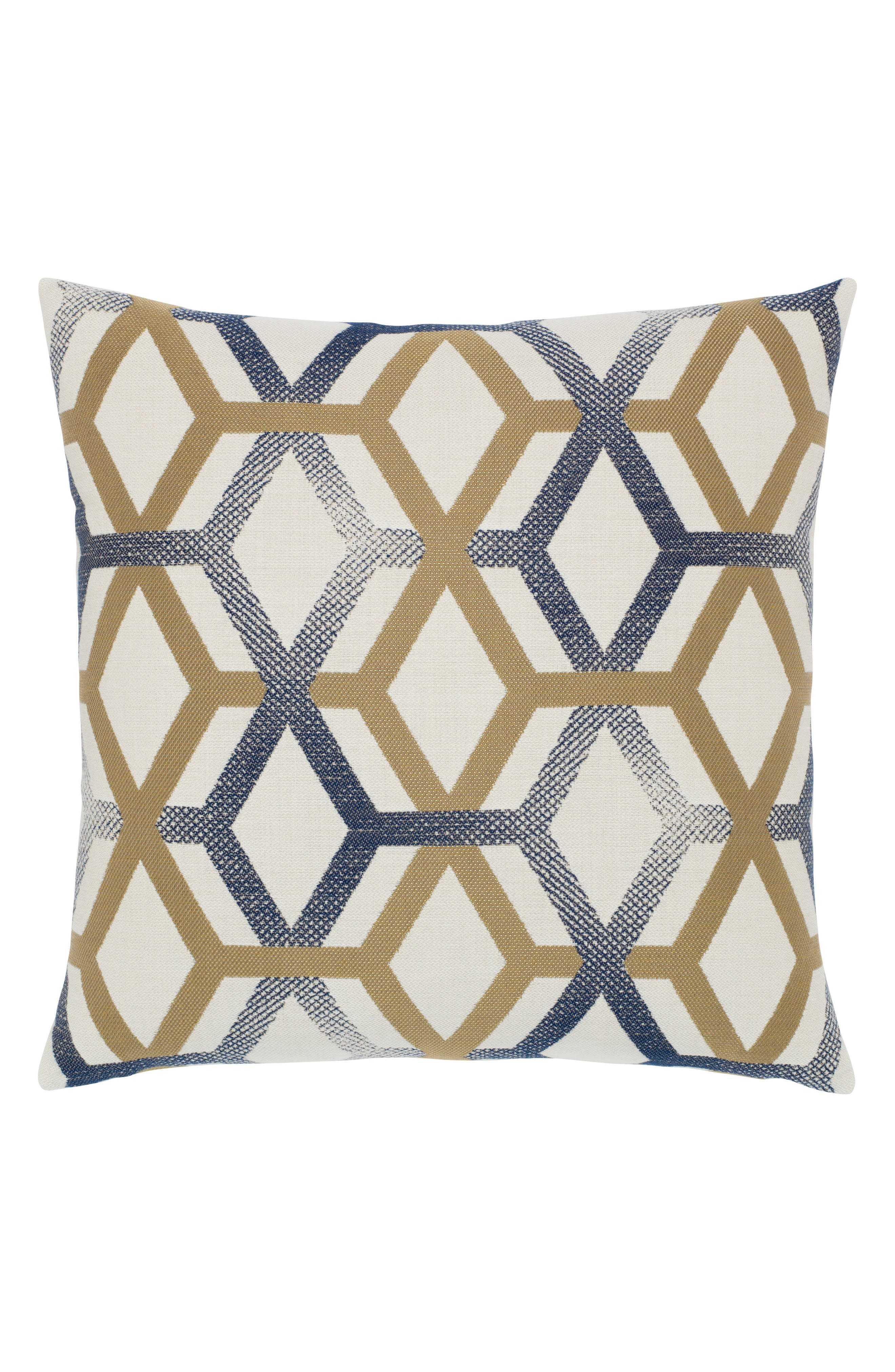Luminous Lines Indoor/Outdoor Accent Pillow,                         Main,                         color, White/ Blue