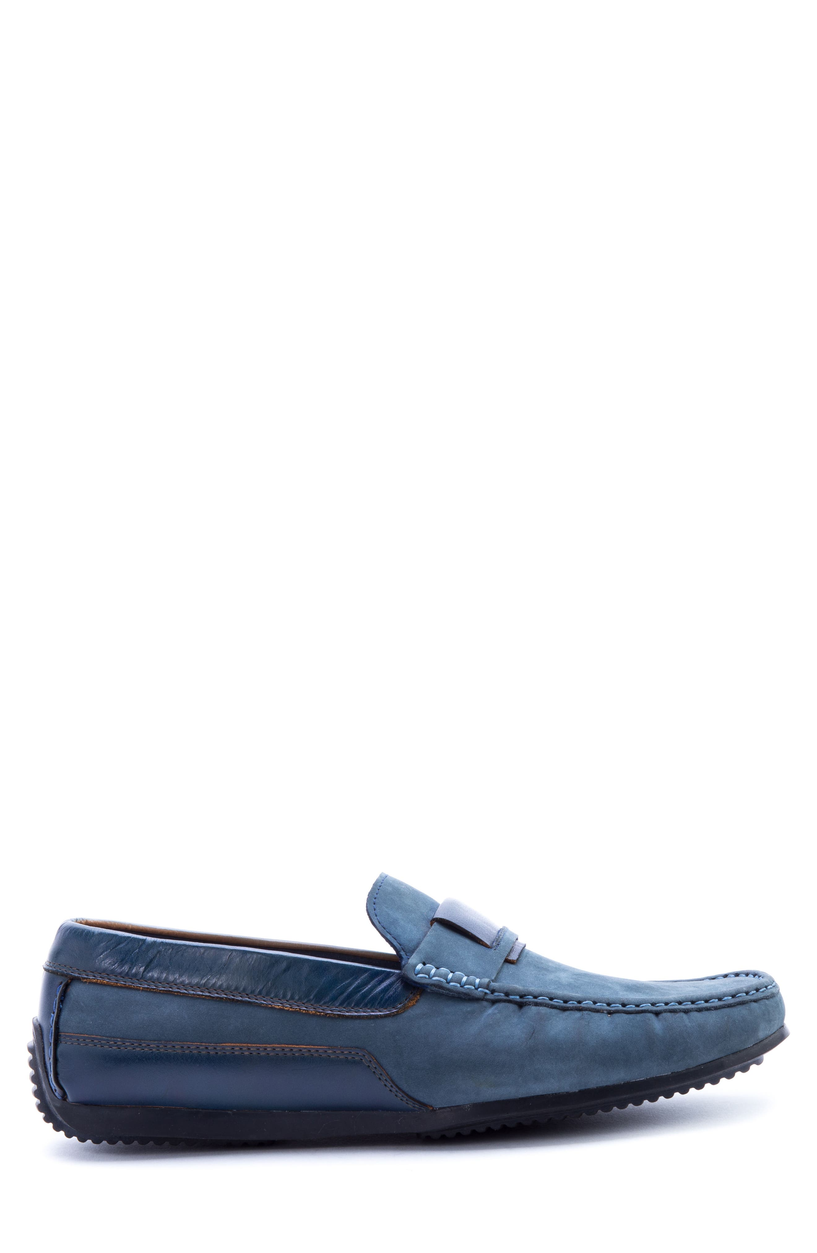 Seurat Driving Loafer,                             Alternate thumbnail 3, color,                             Blue Suede/ Leather