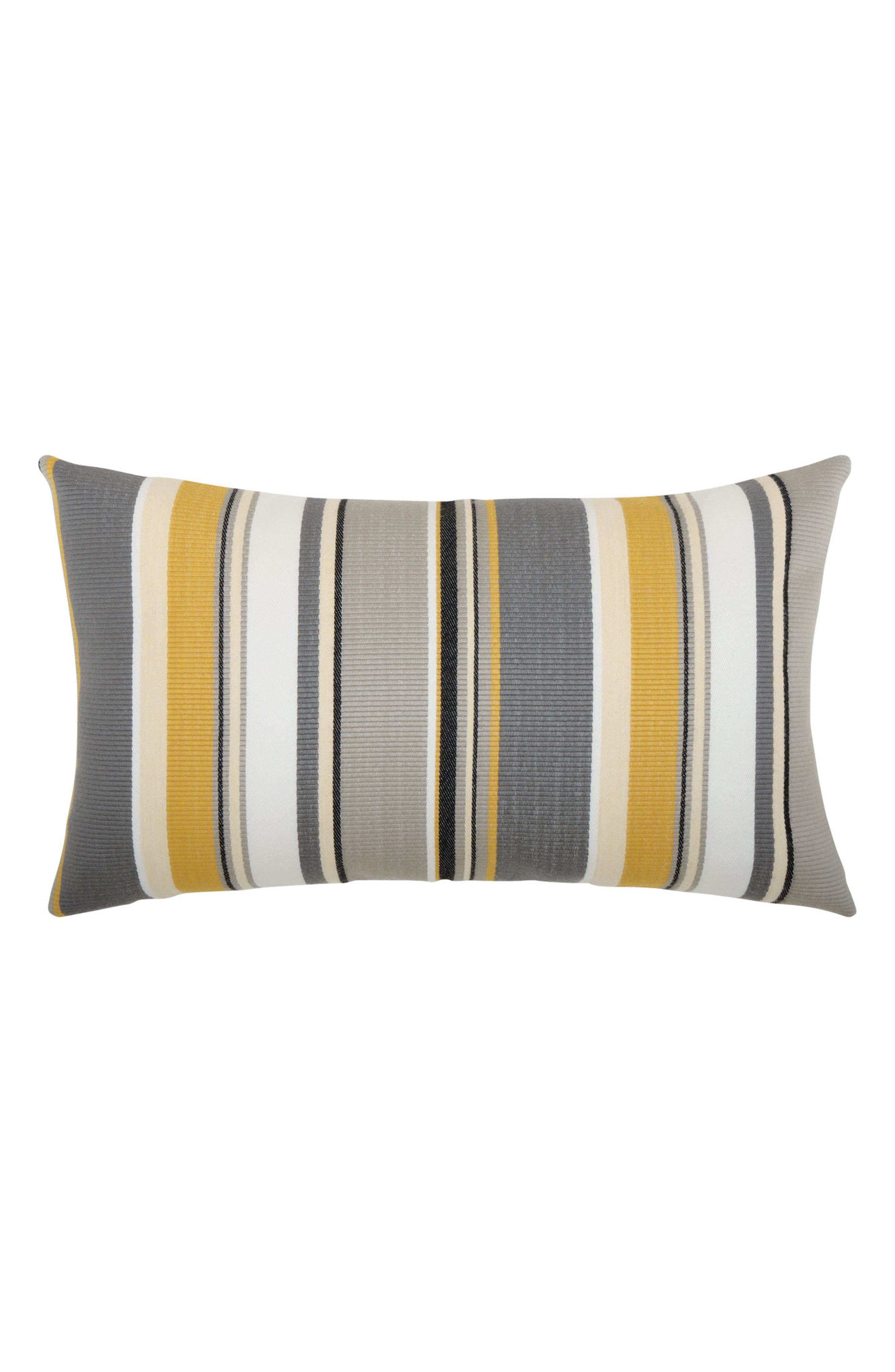 Shadow Stripe Lumbar Pillow,                             Main thumbnail 1, color,                             Grey/ Gold