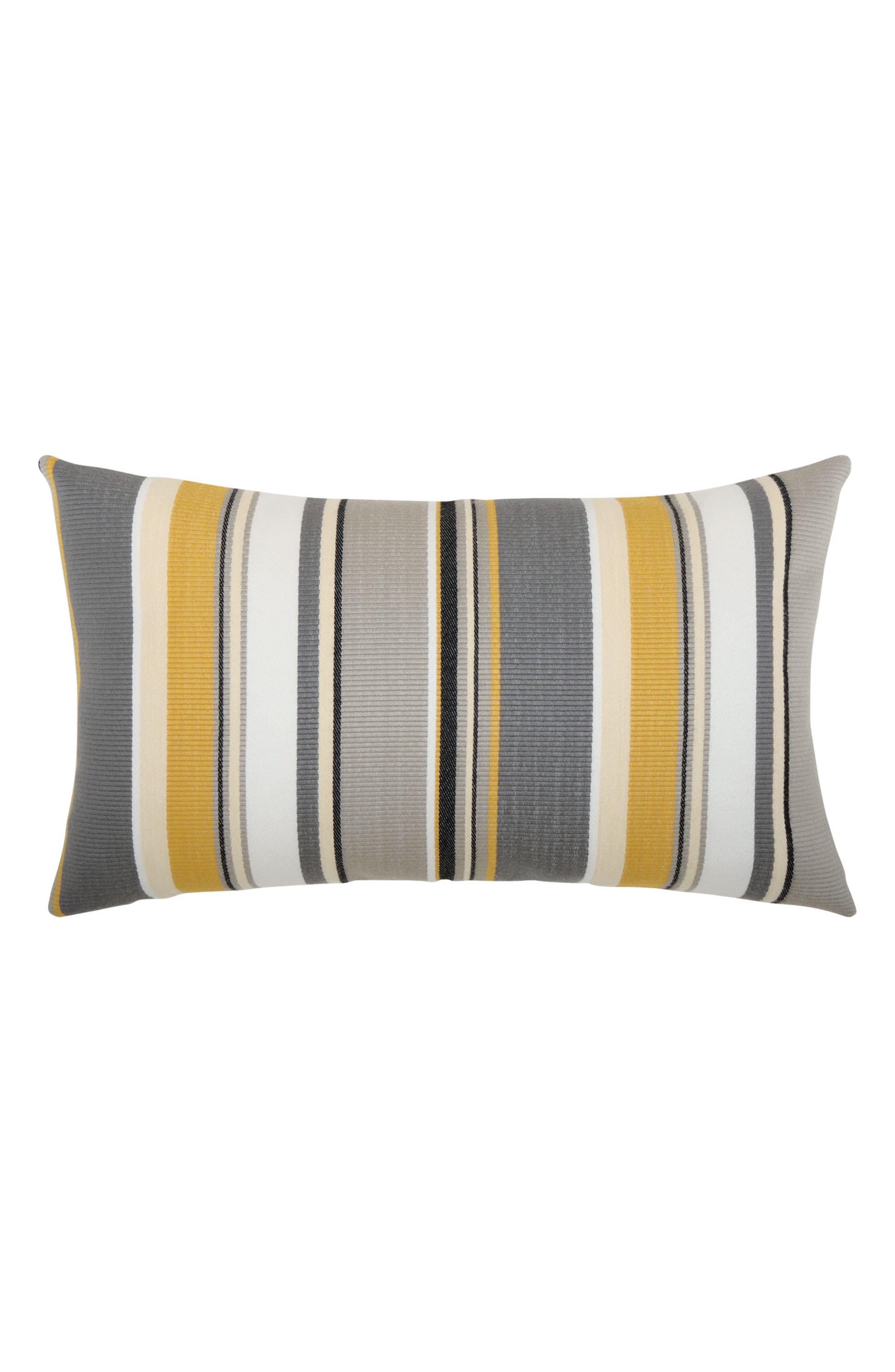 Shadow Stripe Lumbar Pillow,                         Main,                         color, Grey/ Gold