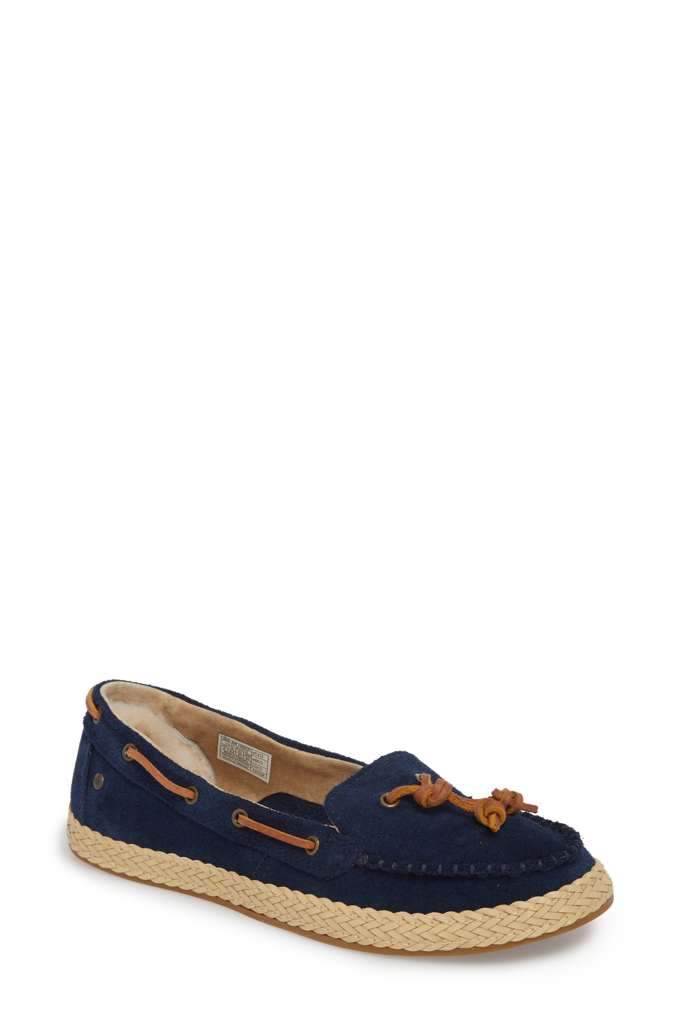 Channtal Loafer,                         Main,                         color, Navy Suede
