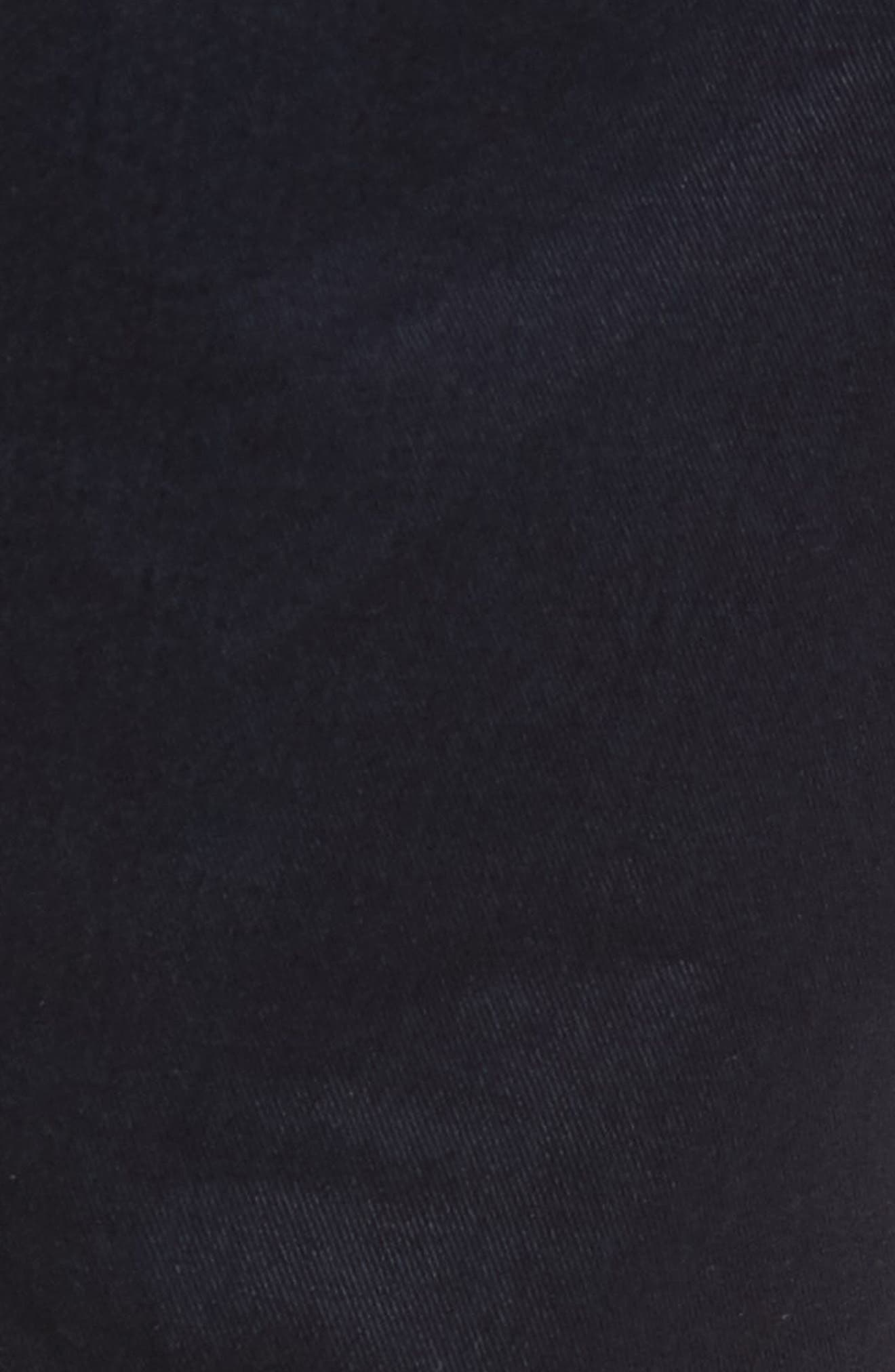 Stanino-W Flat Front Stretch Cotton Trousers,                             Alternate thumbnail 5, color,                             Navy