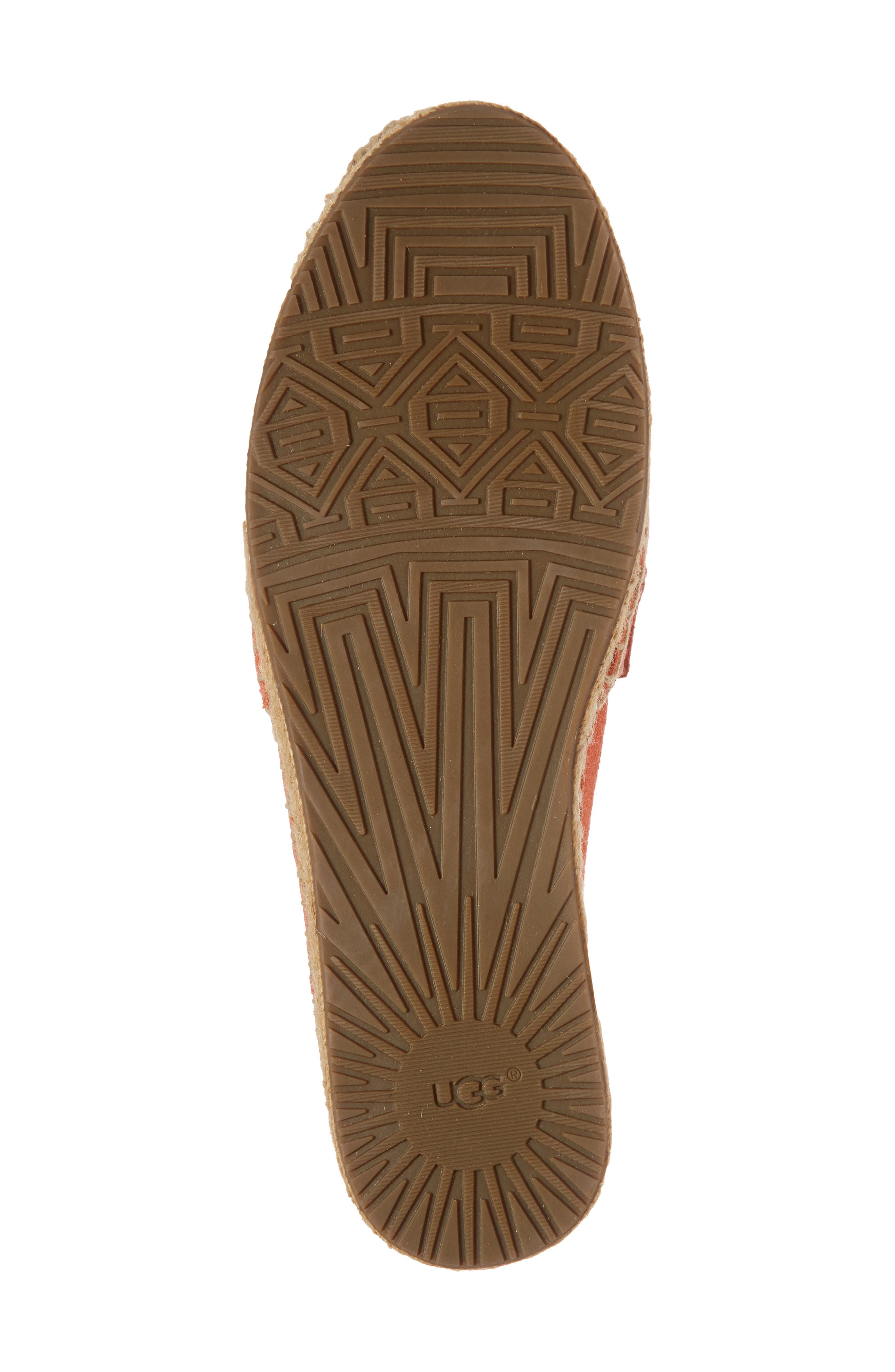 Reneda Espadrille Slip-On,                             Alternate thumbnail 6, color,                             Fusion Coral Suede