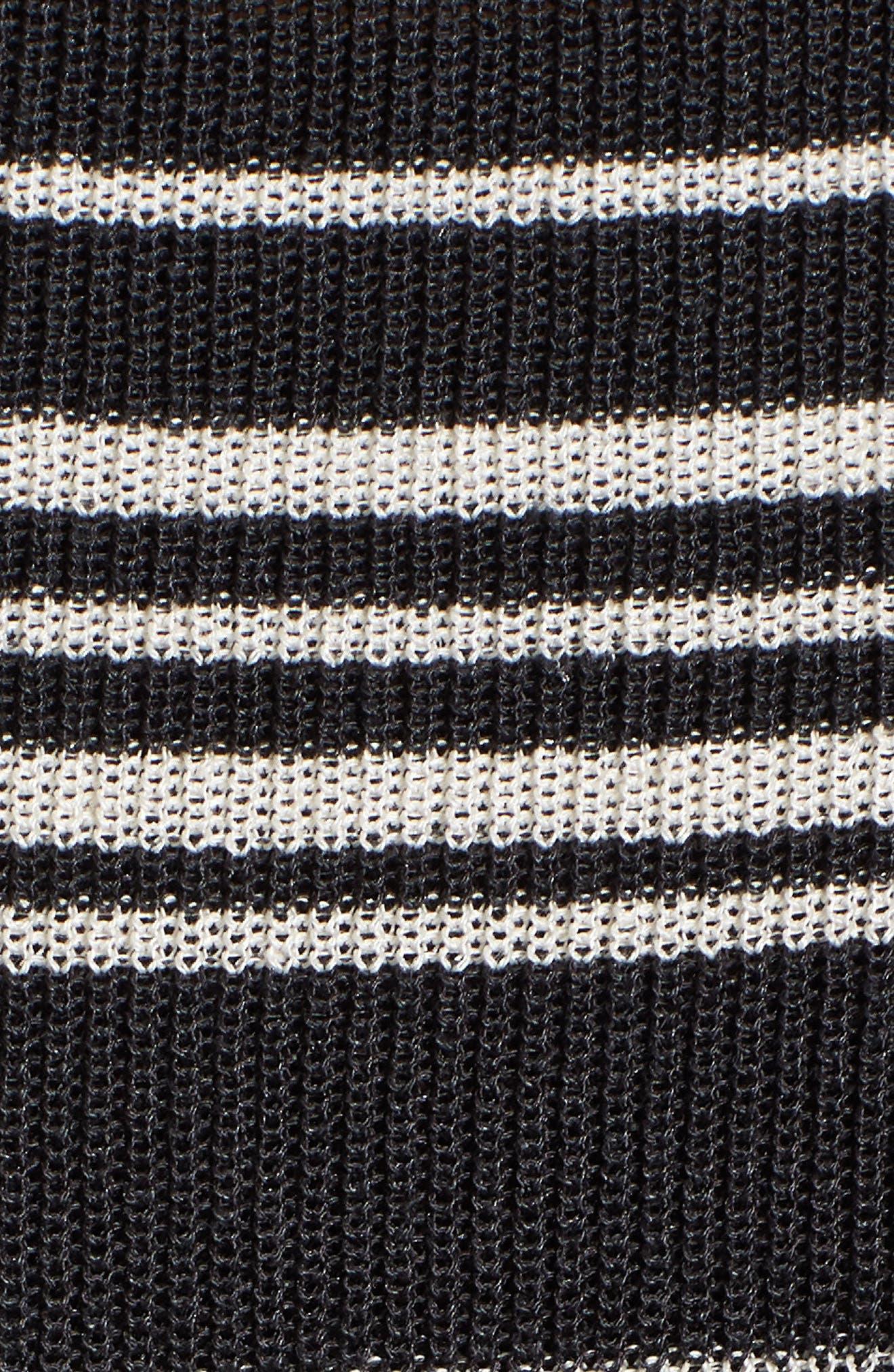 Organic Linen Blend Poncho Sweater,                             Alternate thumbnail 6, color,                             Graphite/ Bone