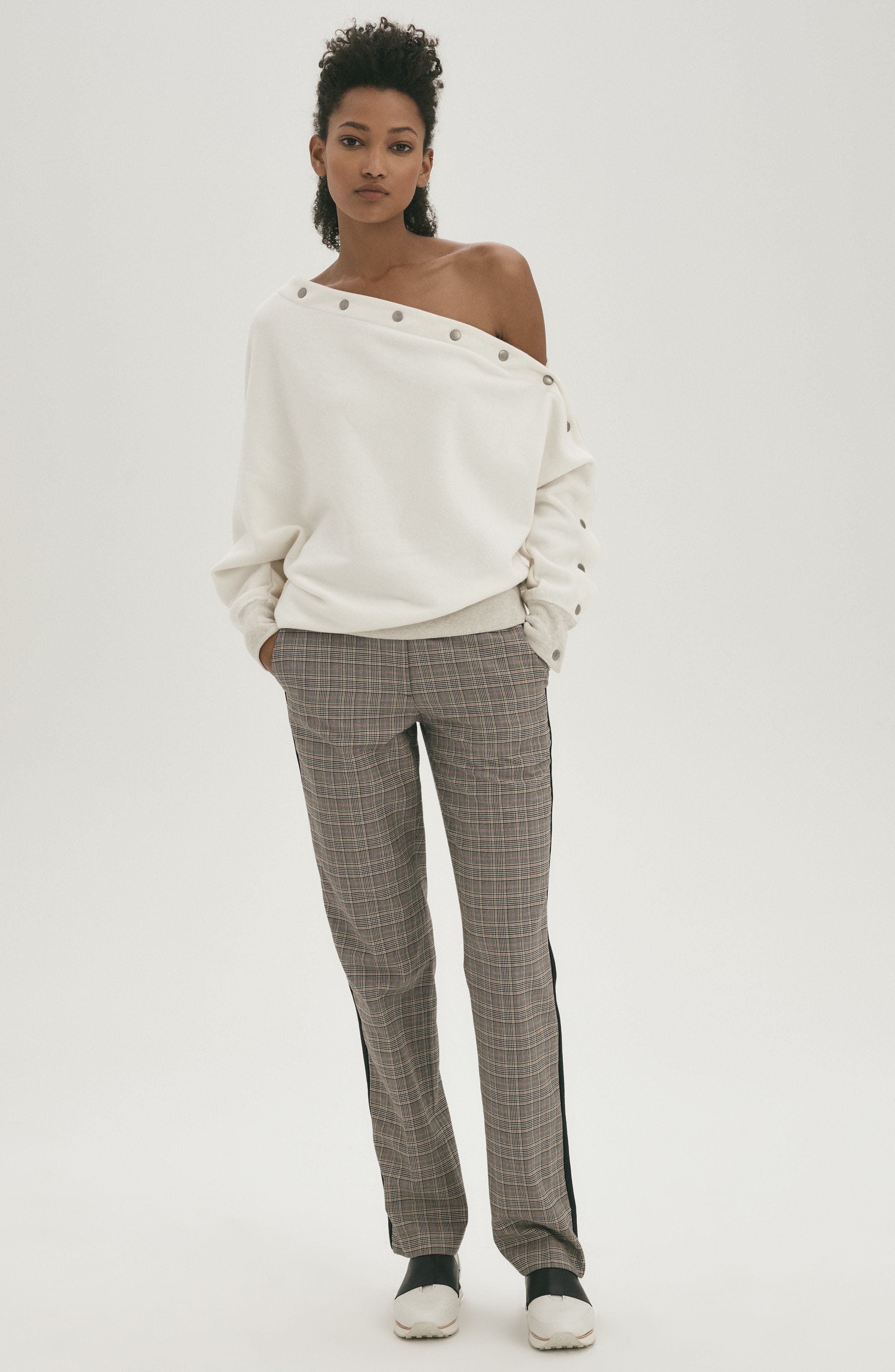 Oman Side Stripe Wool Blend Pants,                             Alternate thumbnail 8, color,